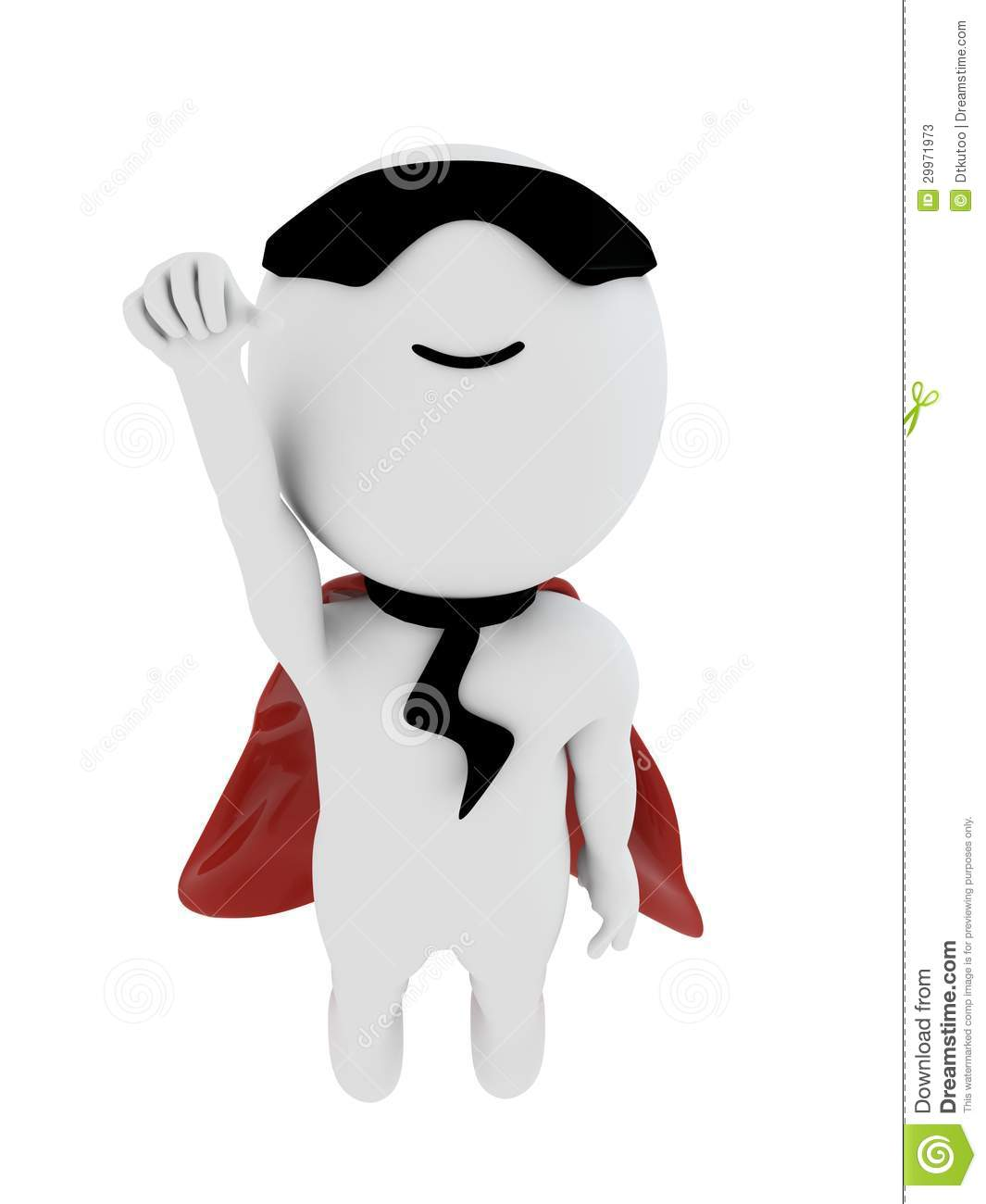 3d small people as super hero stock image image 29971731 - 3d Small People As Super Hero Stock Image Image 29971731 2
