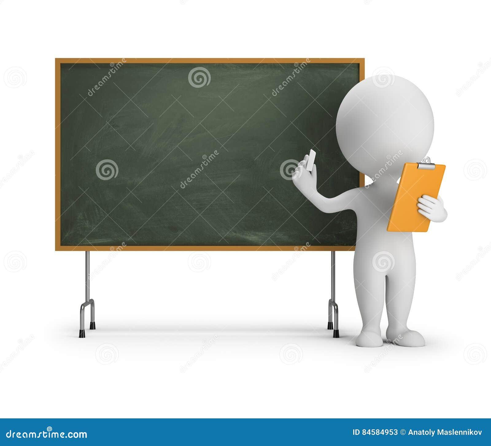 3d small people - blackboard