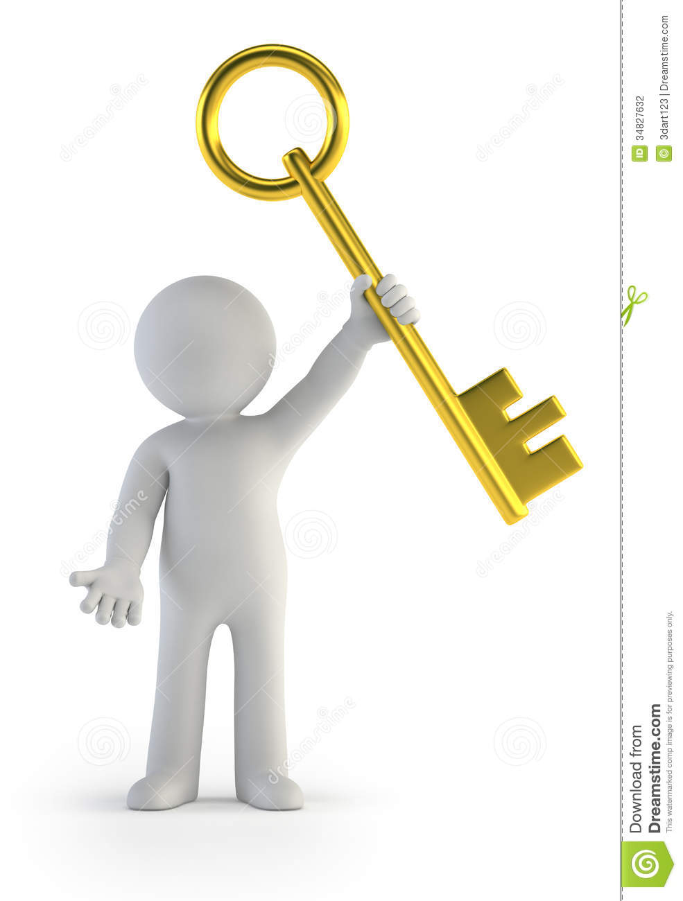Stock Photography D Small People Golden Key Little Man Holding Isolated White Background Image34827632 on Small House Plan
