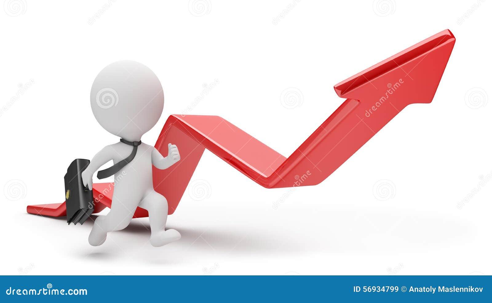3d small people - pursuit of profit