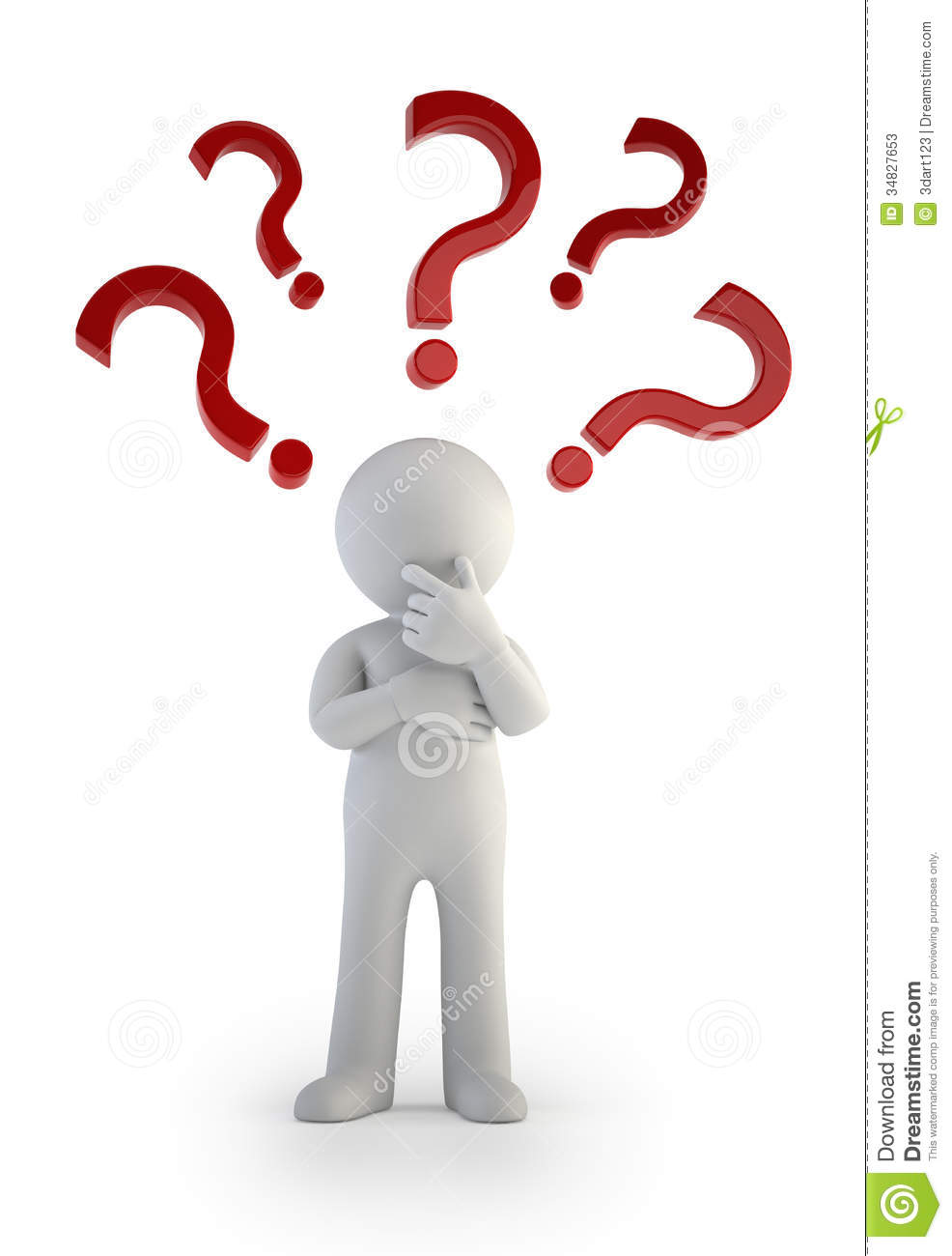 3d small people question mark confusion stock photos image