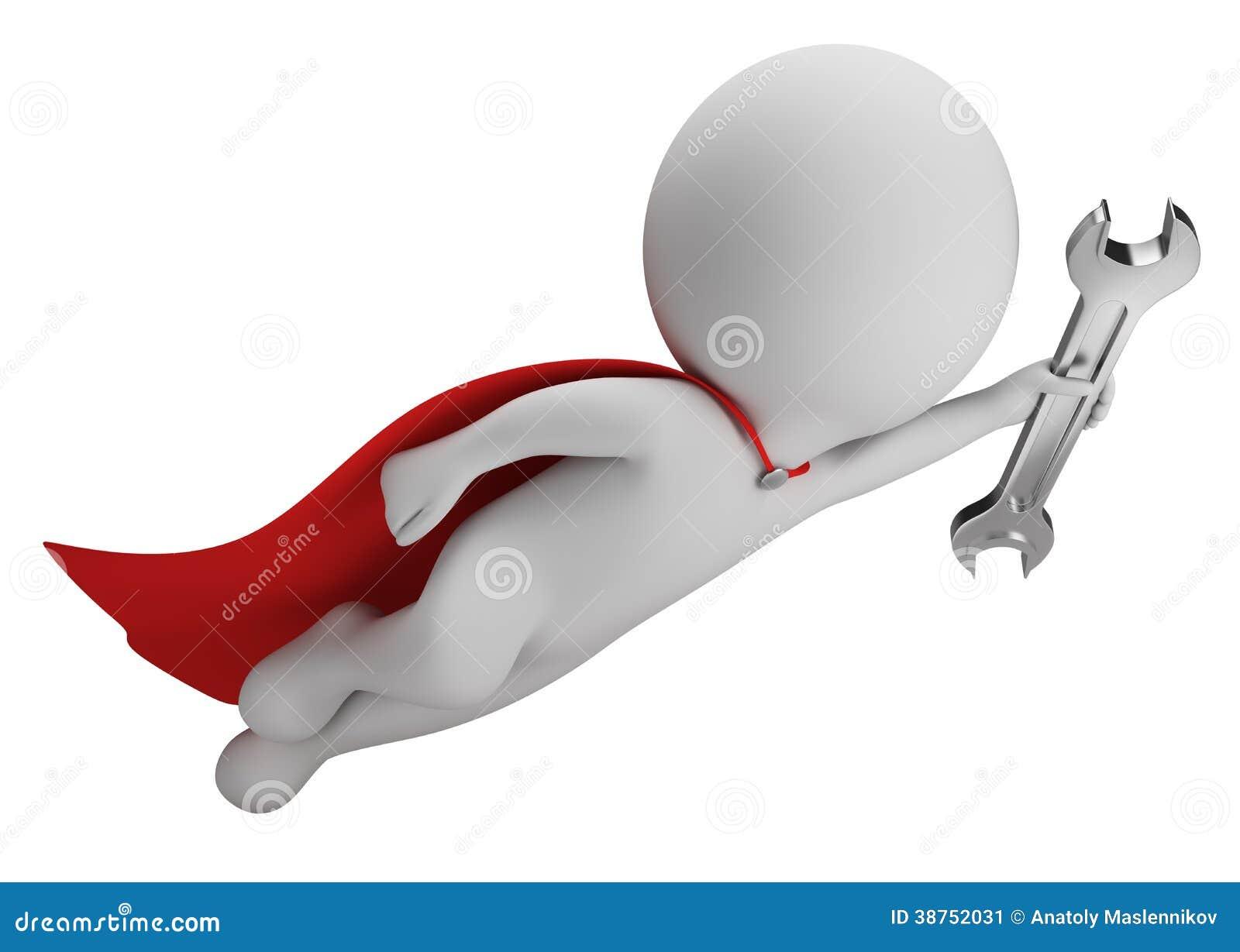 Small Motor Repair >> 3d Small People - Super Mechanic Stock Illustration - Image: 38752031