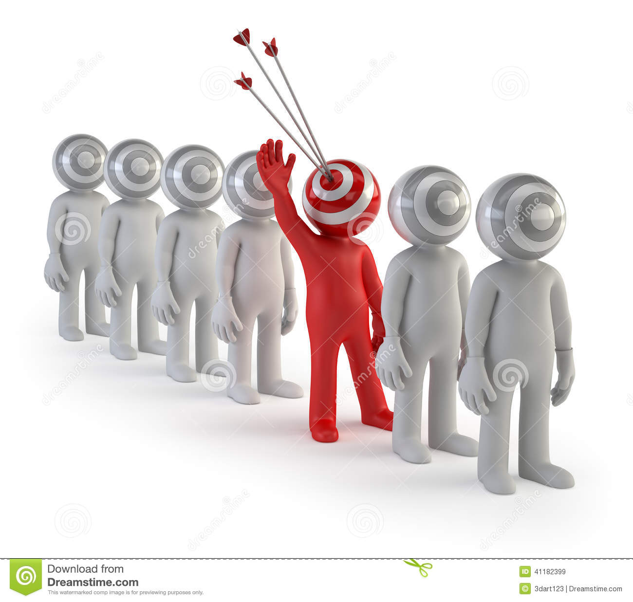 3d small people target audience stock image image