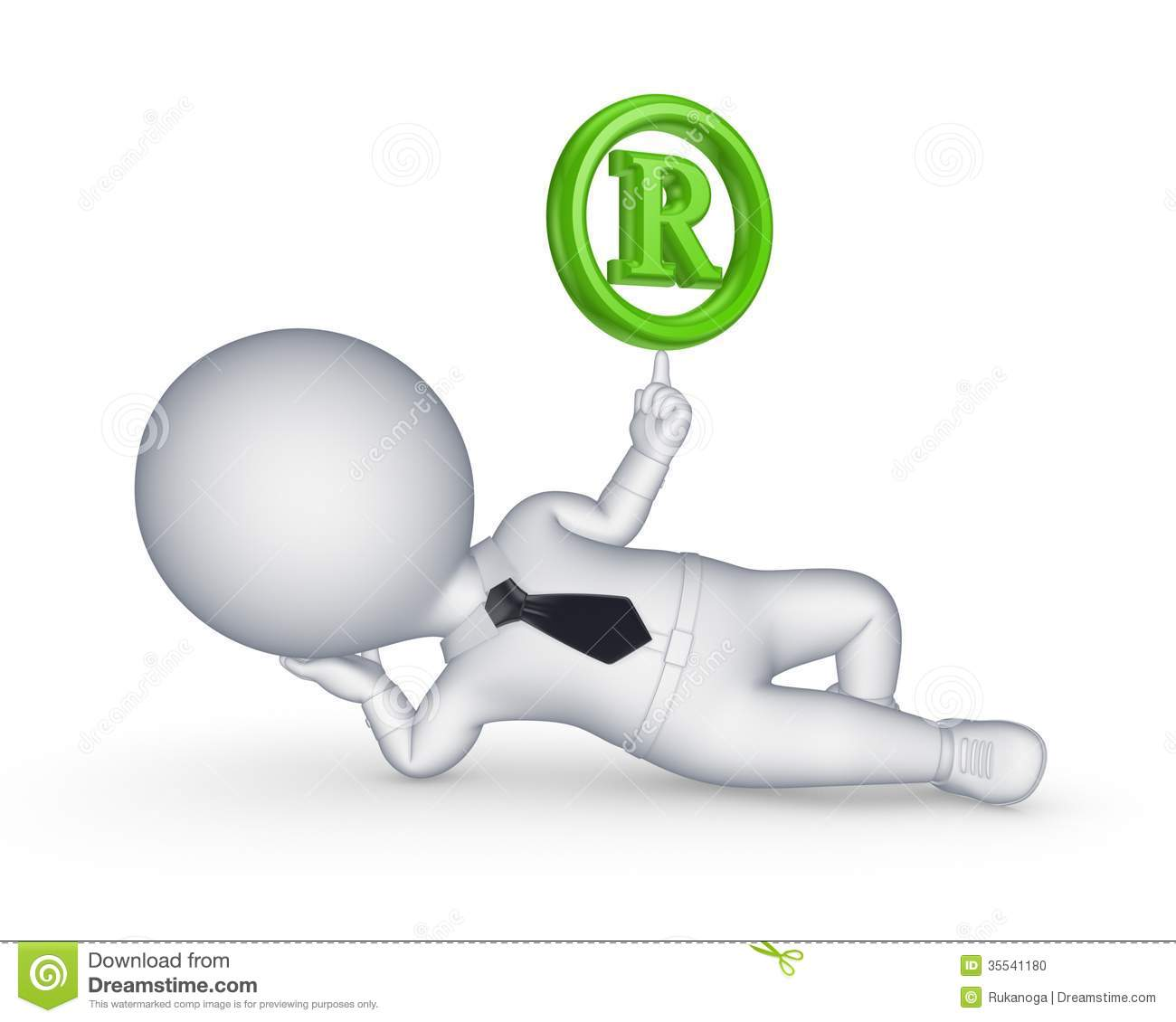 3d small person and copyright symbol stock illustration 3d small person and copyright symbol biocorpaavc