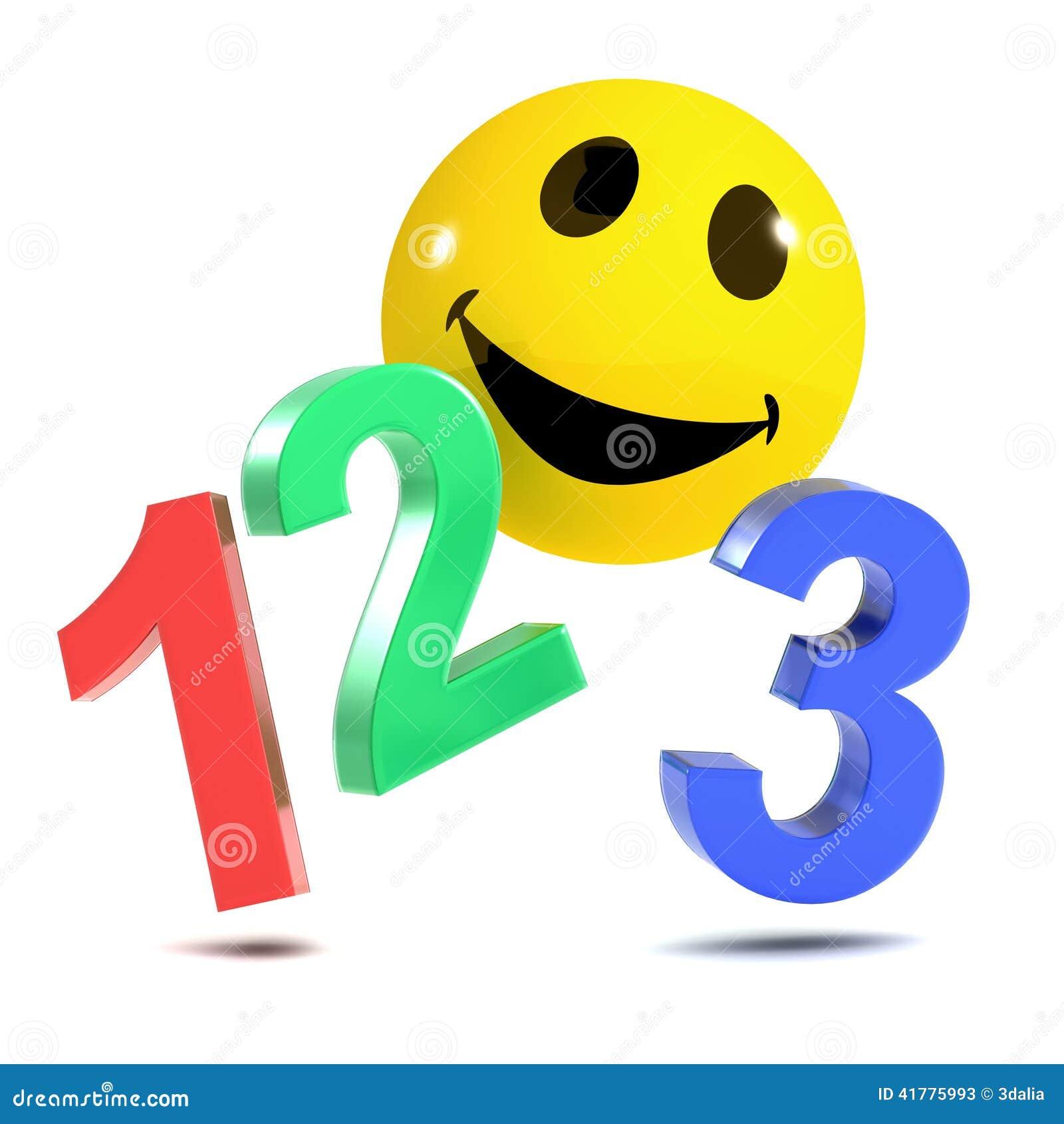 3d Smiley 123 stock il...