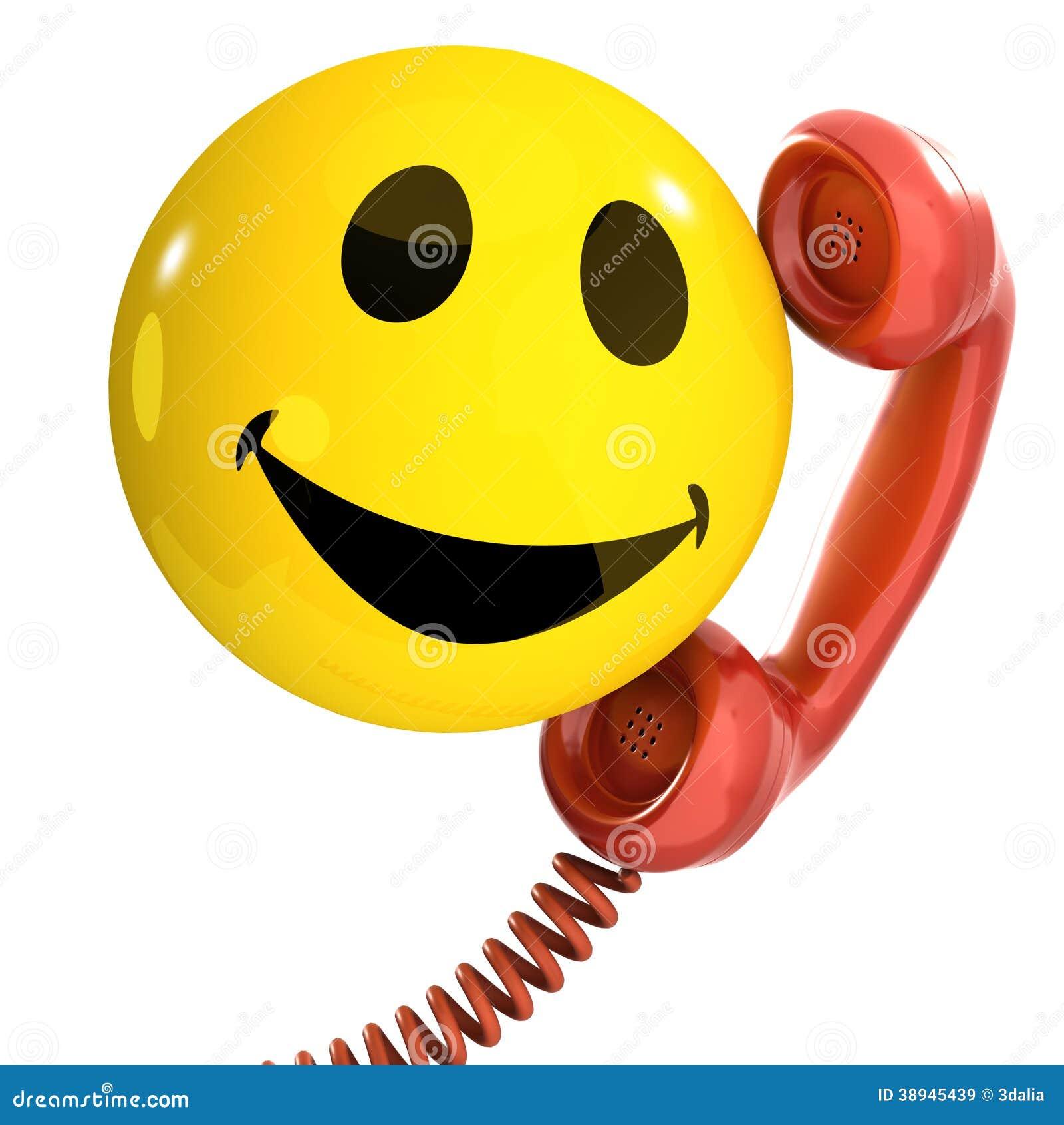 3d Smiley Telefoon Stock Illustratie Afbeelding 38945439