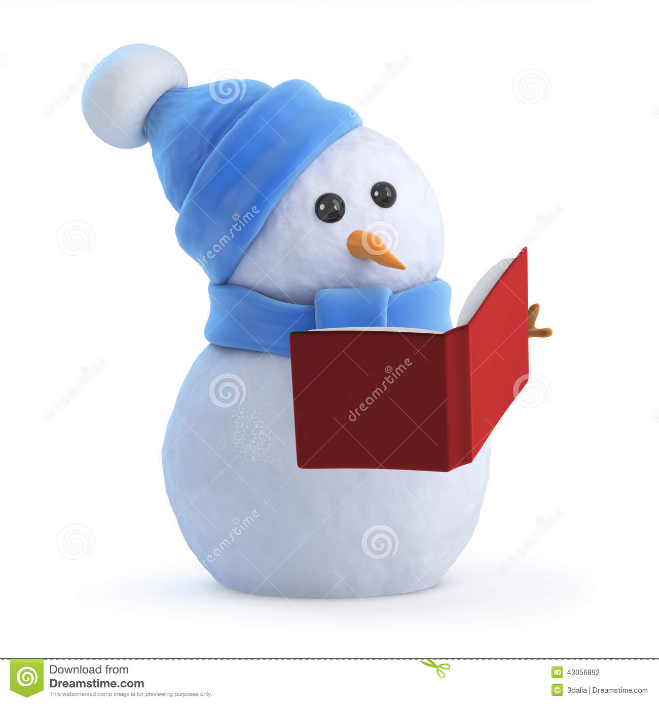 Worksheet Snowman Reading 3d snowman reading a book stock illustration image 43056892 royalty free download reading