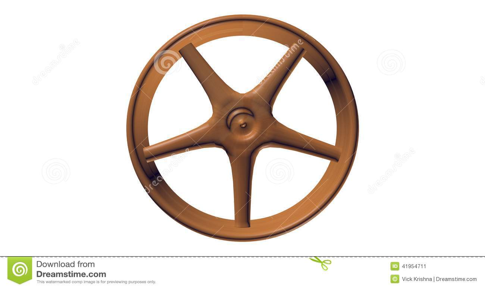 3D Spoked drewniany koło