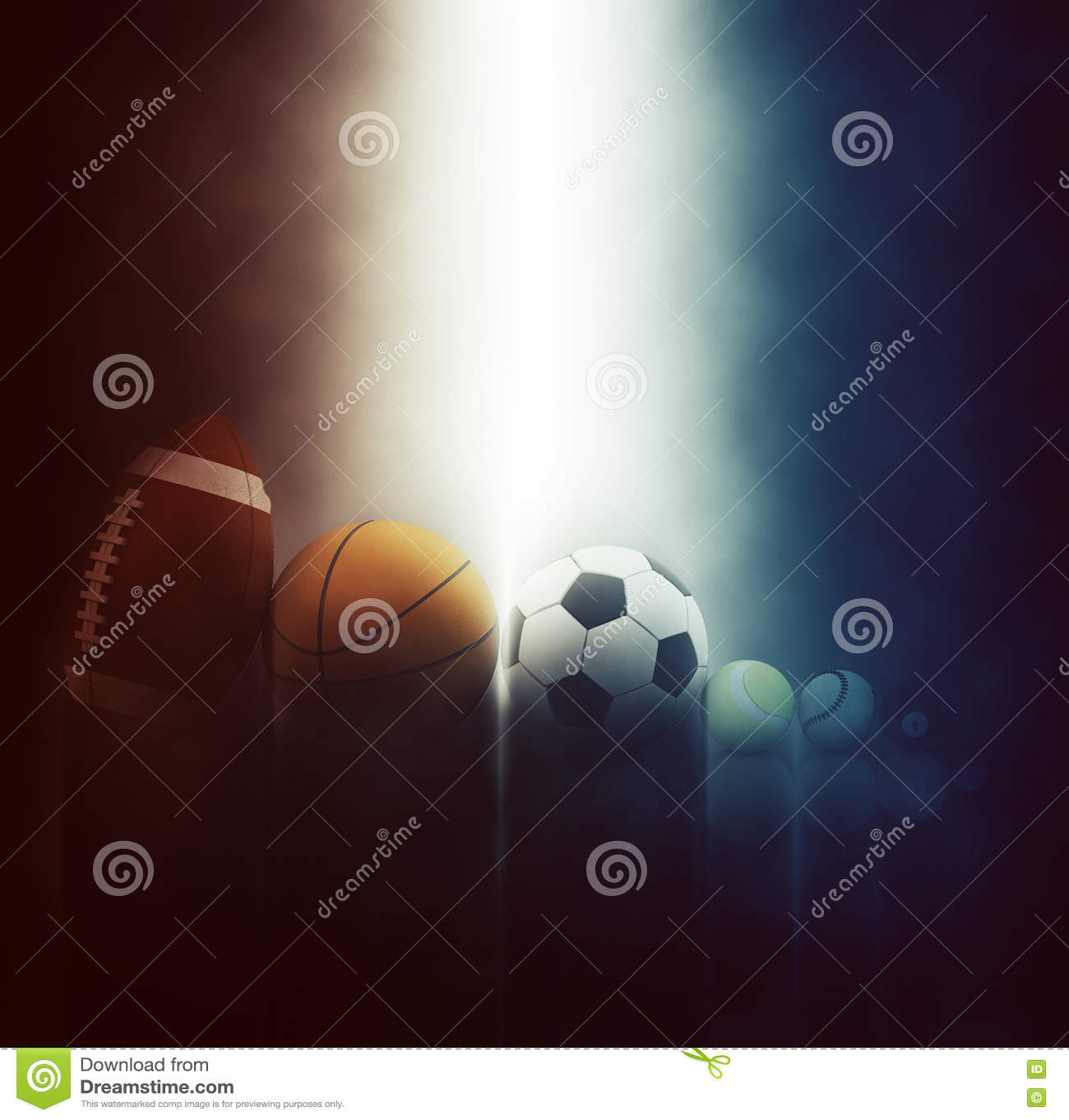 3D Sports Balls Backgrounds
