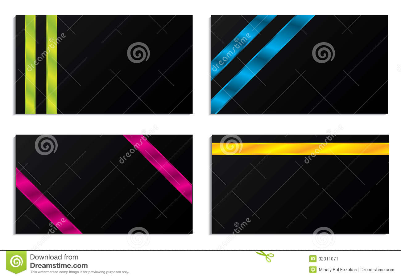 3d striped business cards stock vector illustration of green 32311071