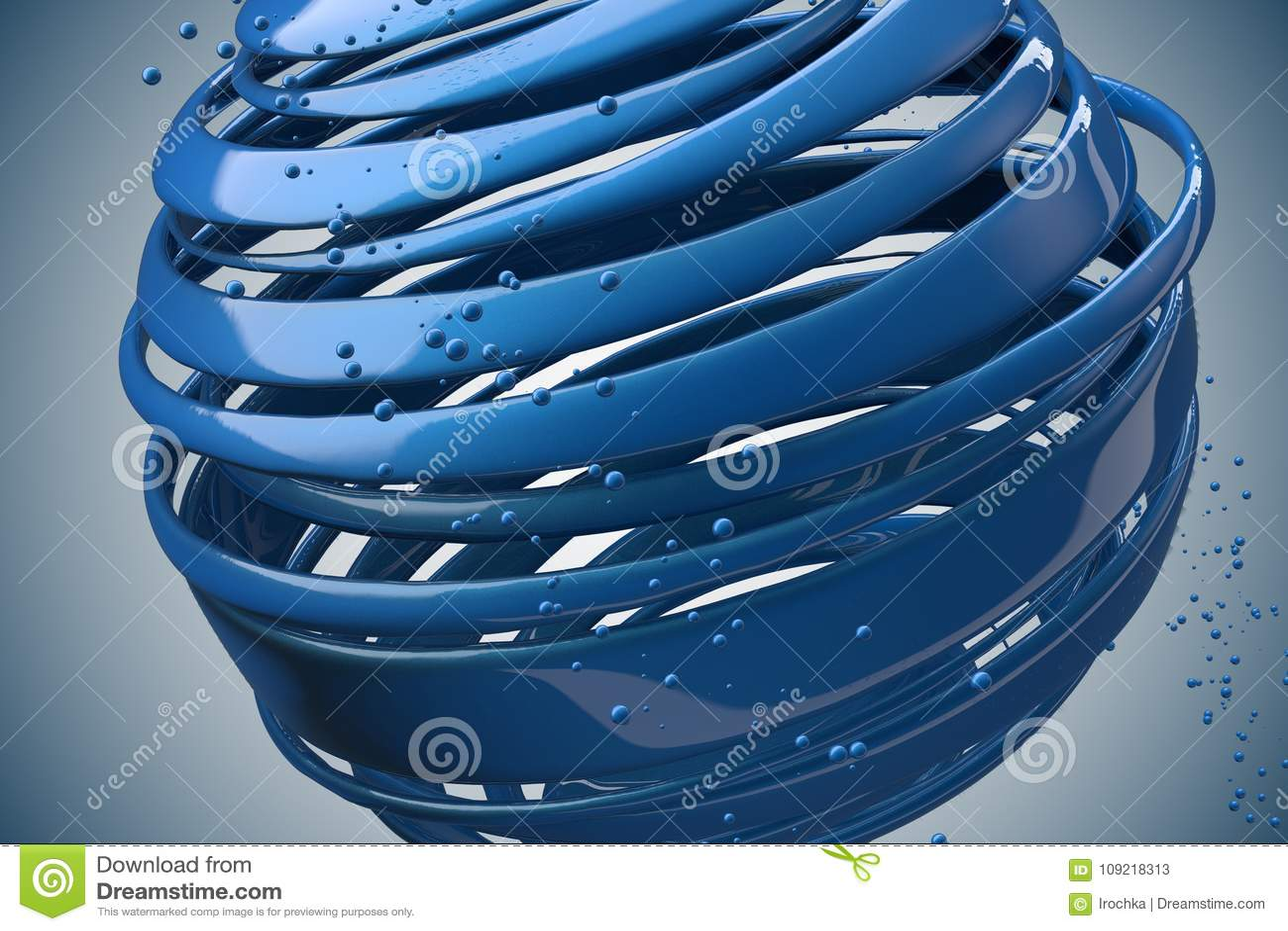 3D striped decorative balls.