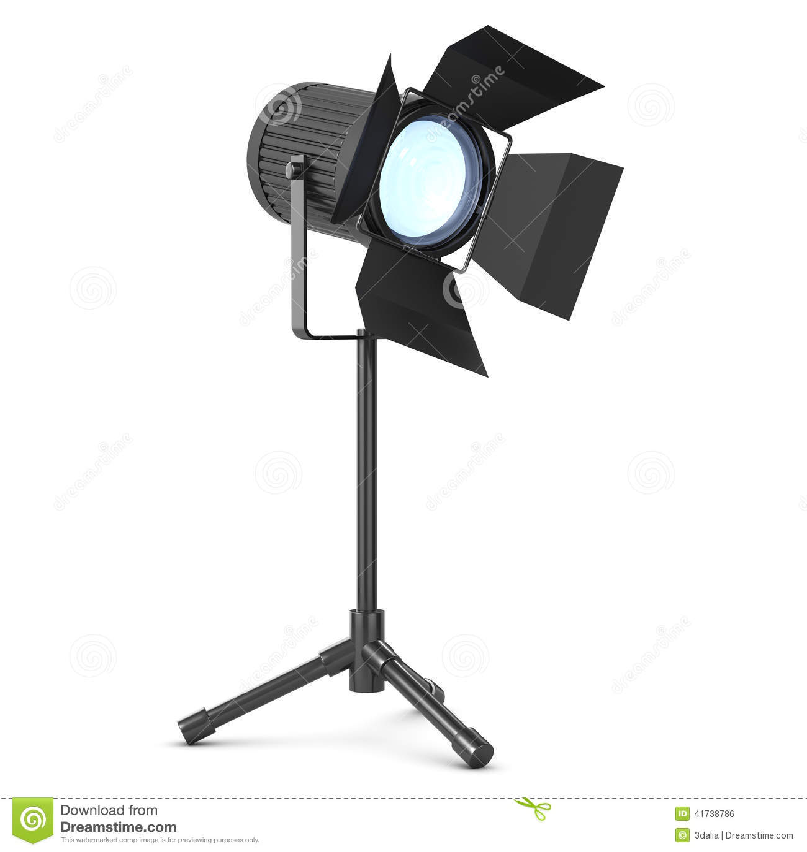 3d Studio light on stand