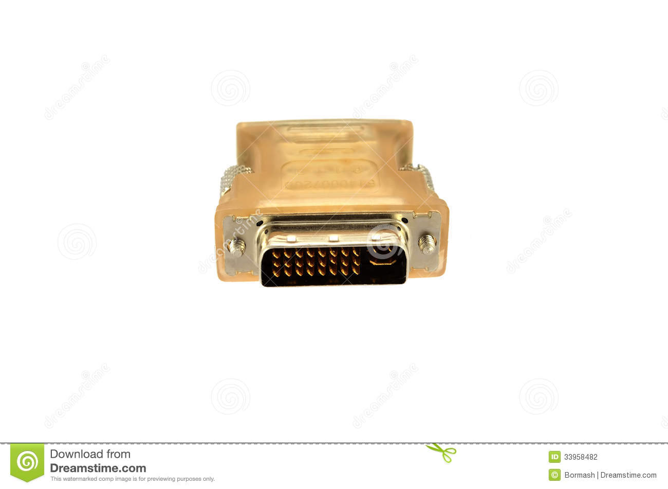 Computer Monitor Plug : D sub plug and socket stock photography image