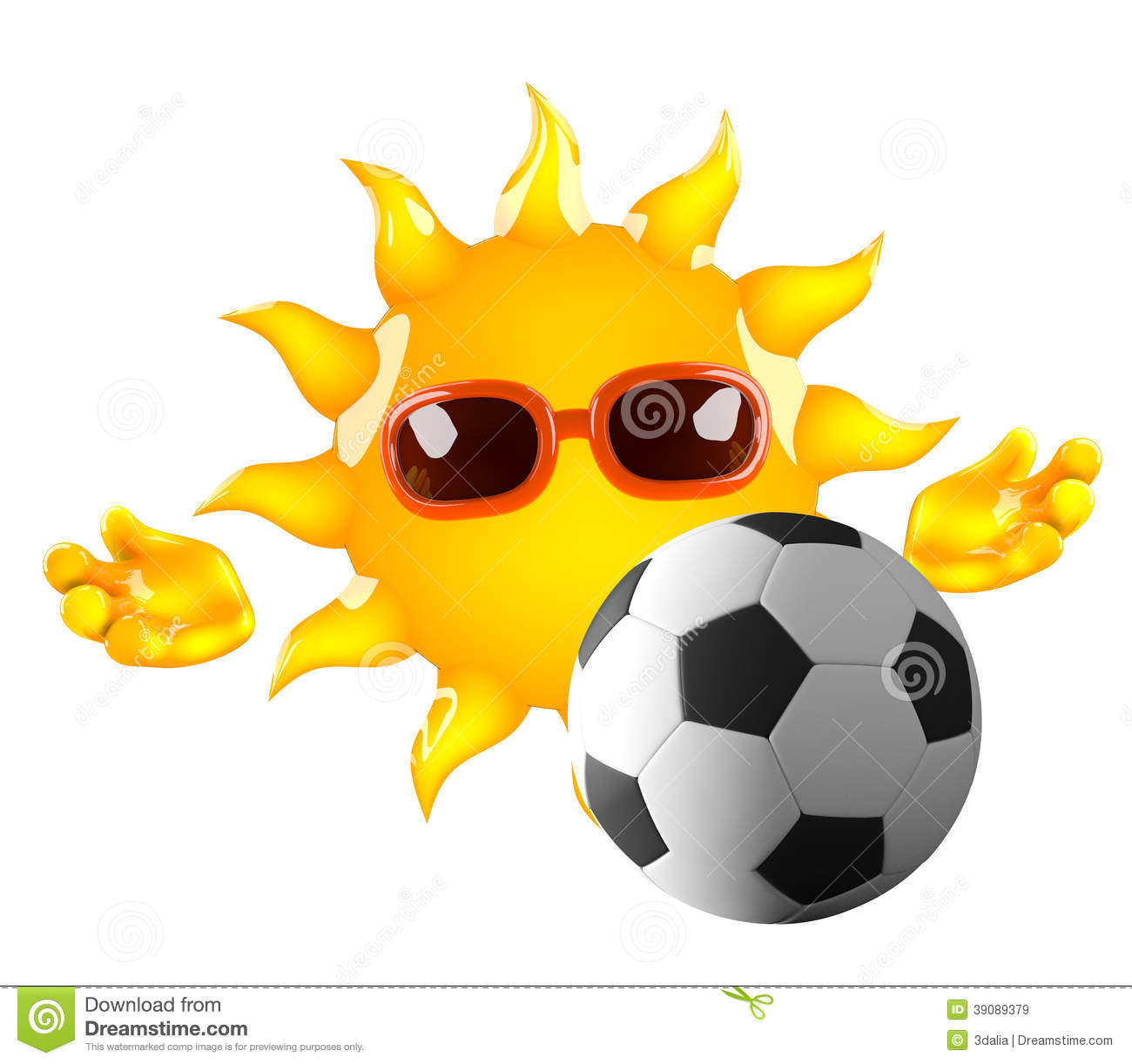 3d Sun Football Stock Illustration - Image: 39089379