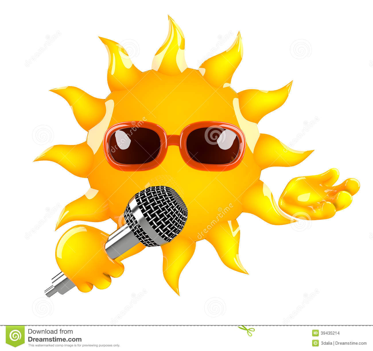 3d Sun sings stock illustration. Illustration of character - 39435214