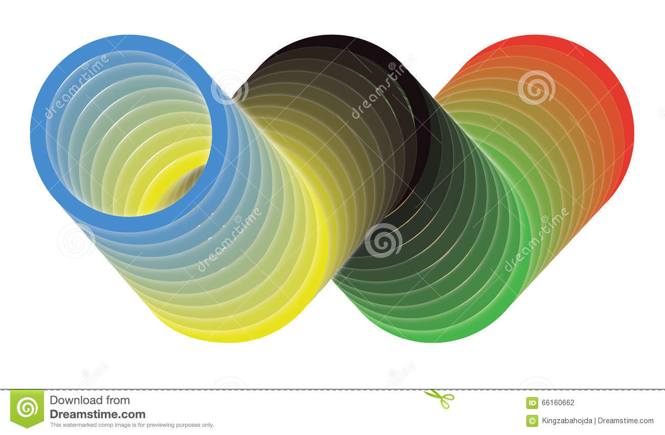 3d symbol of olympic games olympic circles stock illustration 3d symbol of olympic games olympic circles biocorpaavc Images