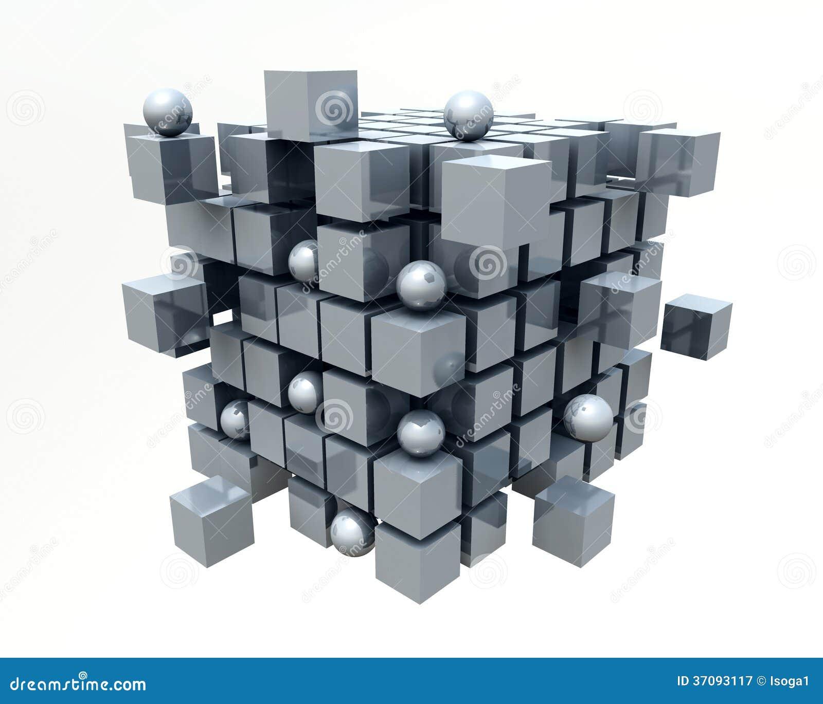 Download 3D sześciany ilustracji. Ilustracja złożonej z tworzenie - 37093117