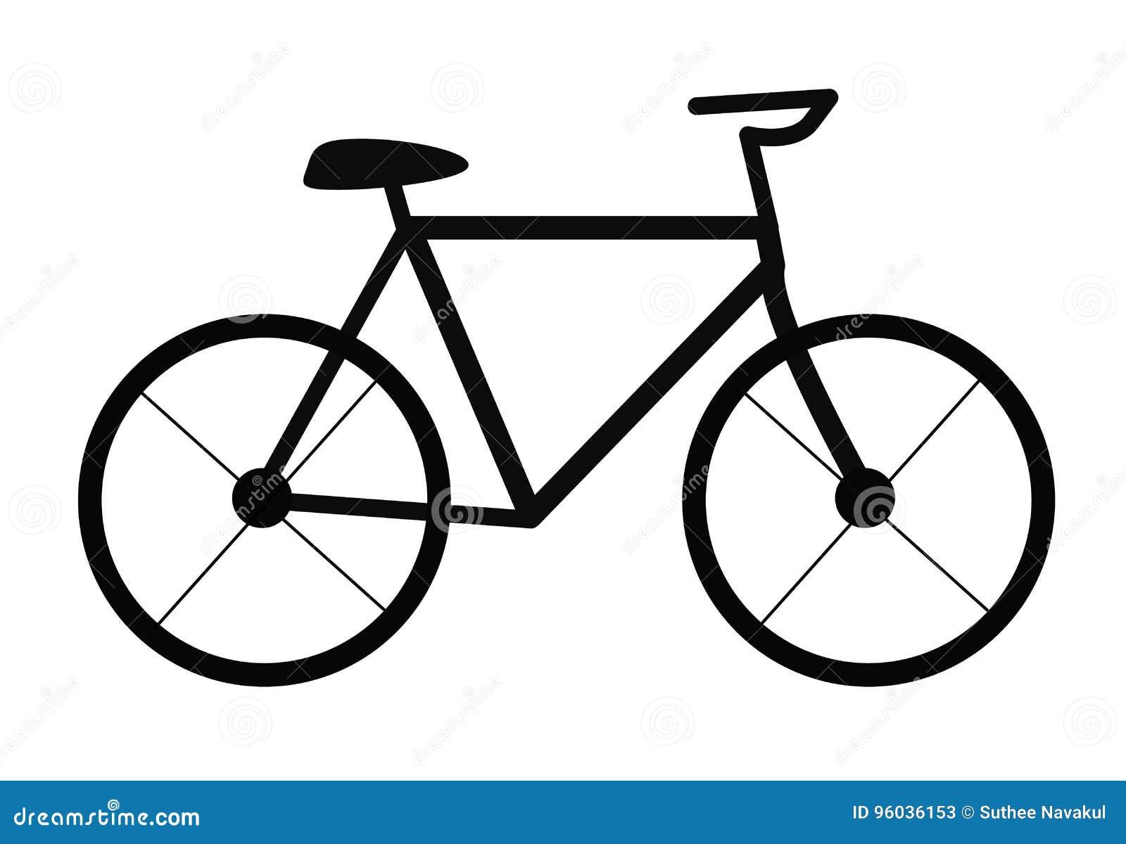 3d tła bicyklu ilustracja odpłaca się biel Bicyklu znak