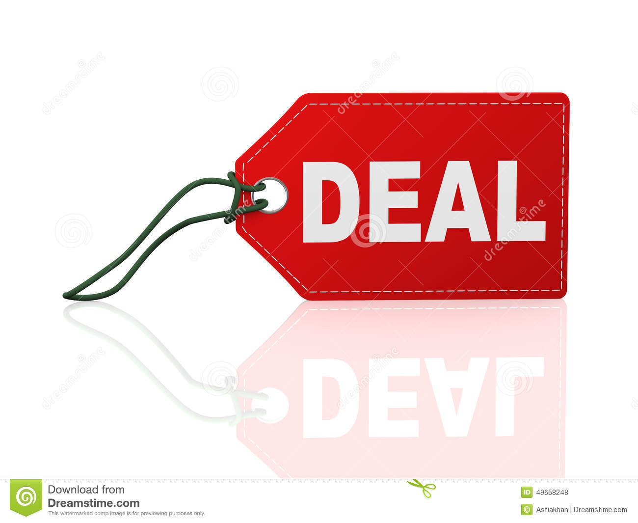 3d Tag Label Word Text Deal Stock Illustration - Image: 49658248