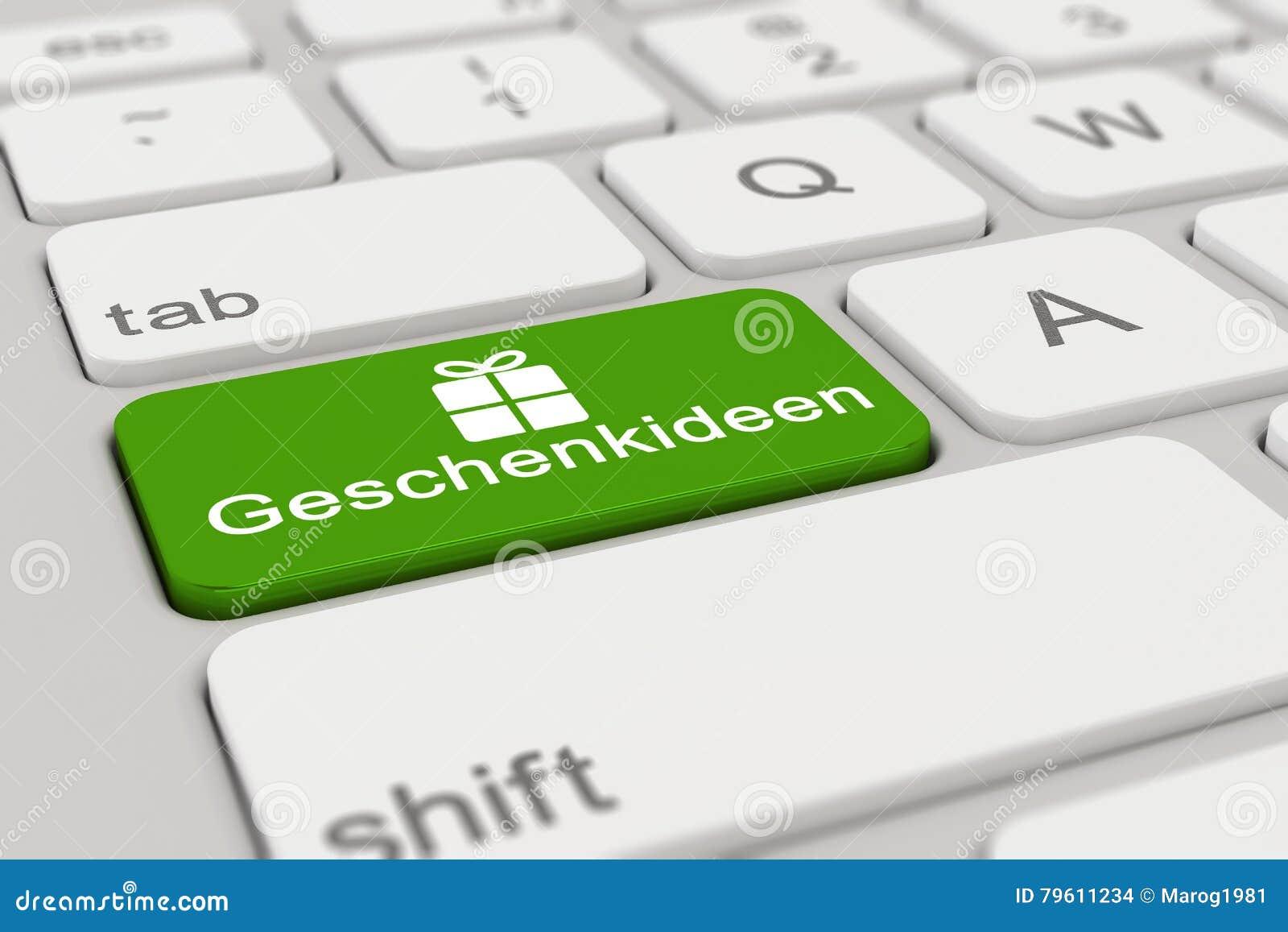 3d - teclado - Geschenkideen - verde