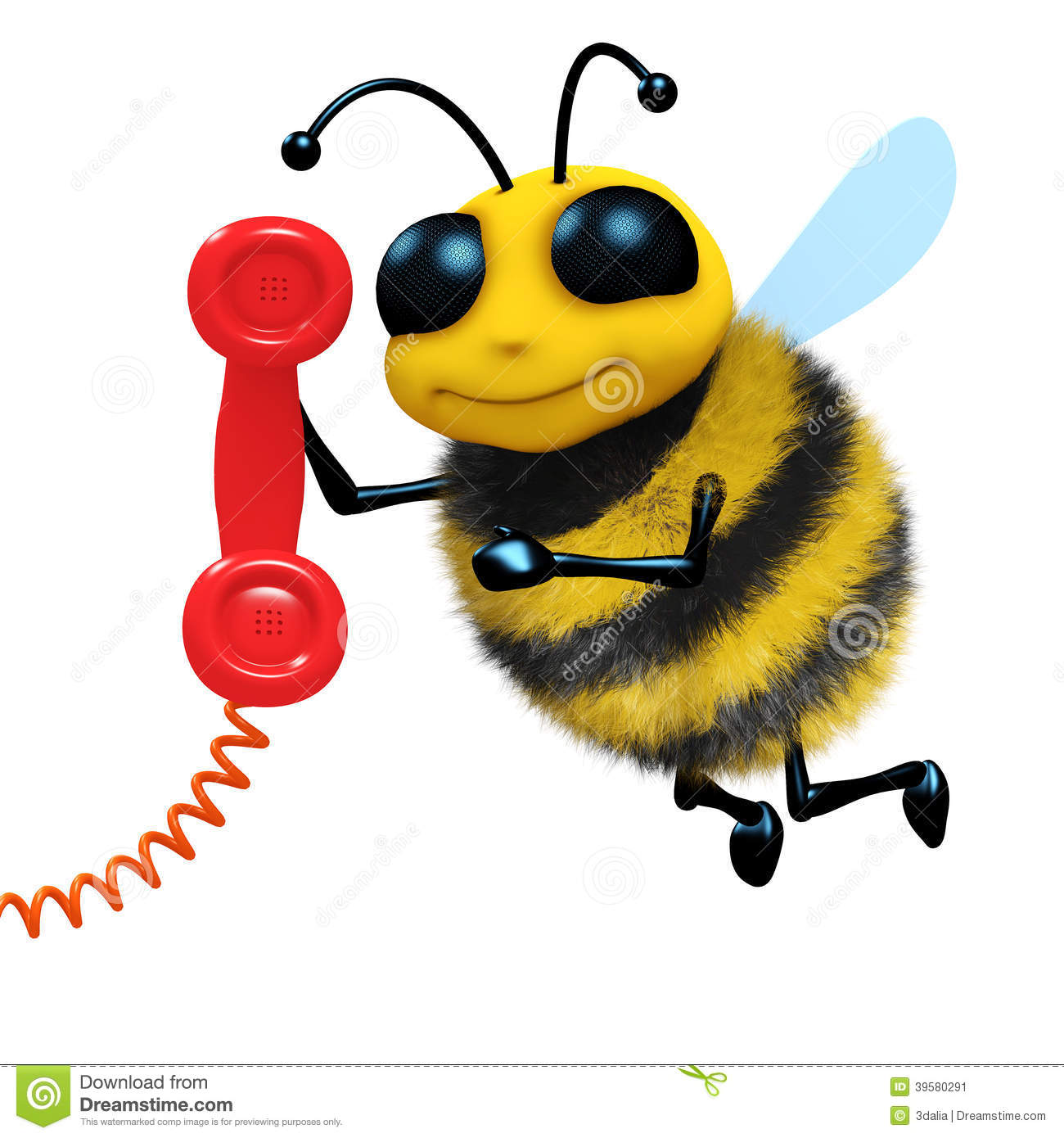 Bumblebee On Phone Wiring Diagrams Fk946 Non Contact Ac Voltage Detector Circuit 3d Telephone Bee Stock Illustration Image Of Funny Wallpaper