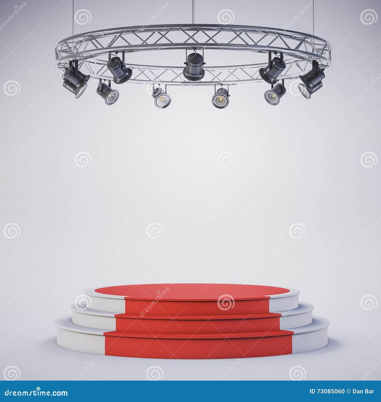 3d template of empty podium stage stock illustration illustration