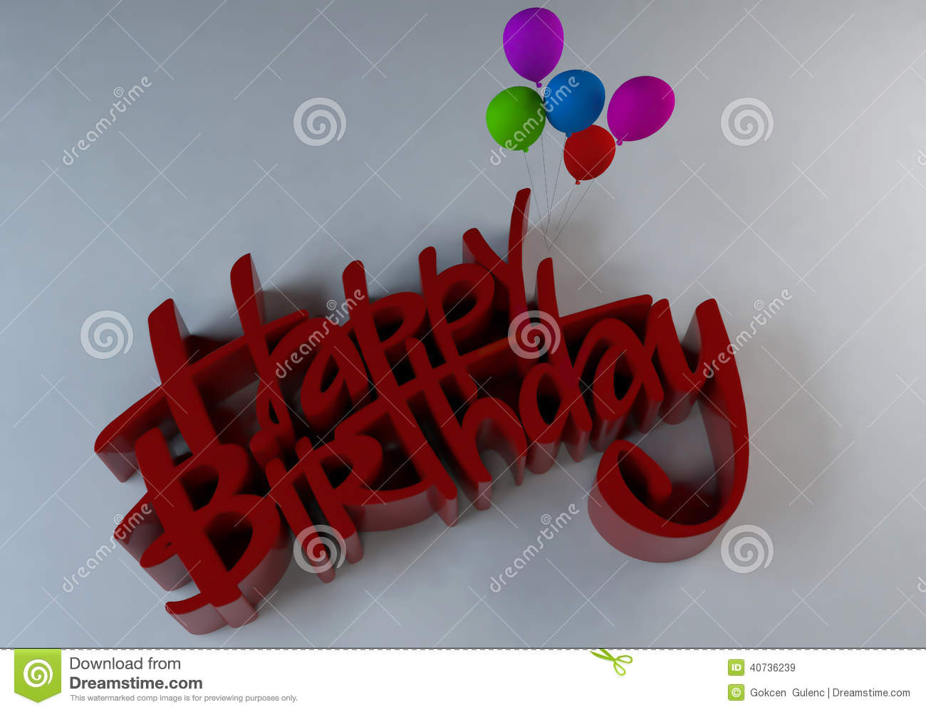 3d Text-Happy Birthday Stock Illustration