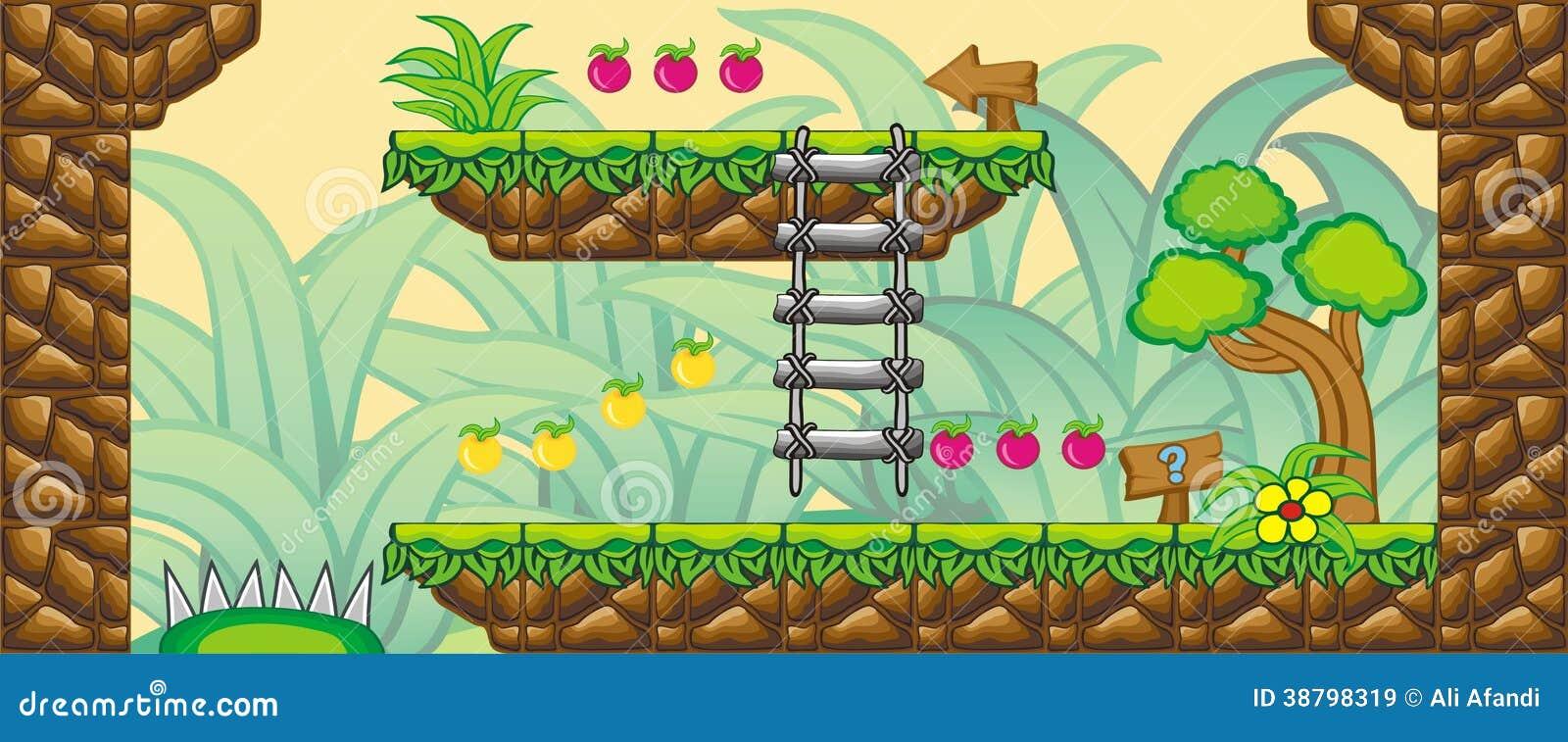 2D Tileset Platform Game 12 Stock Illustration