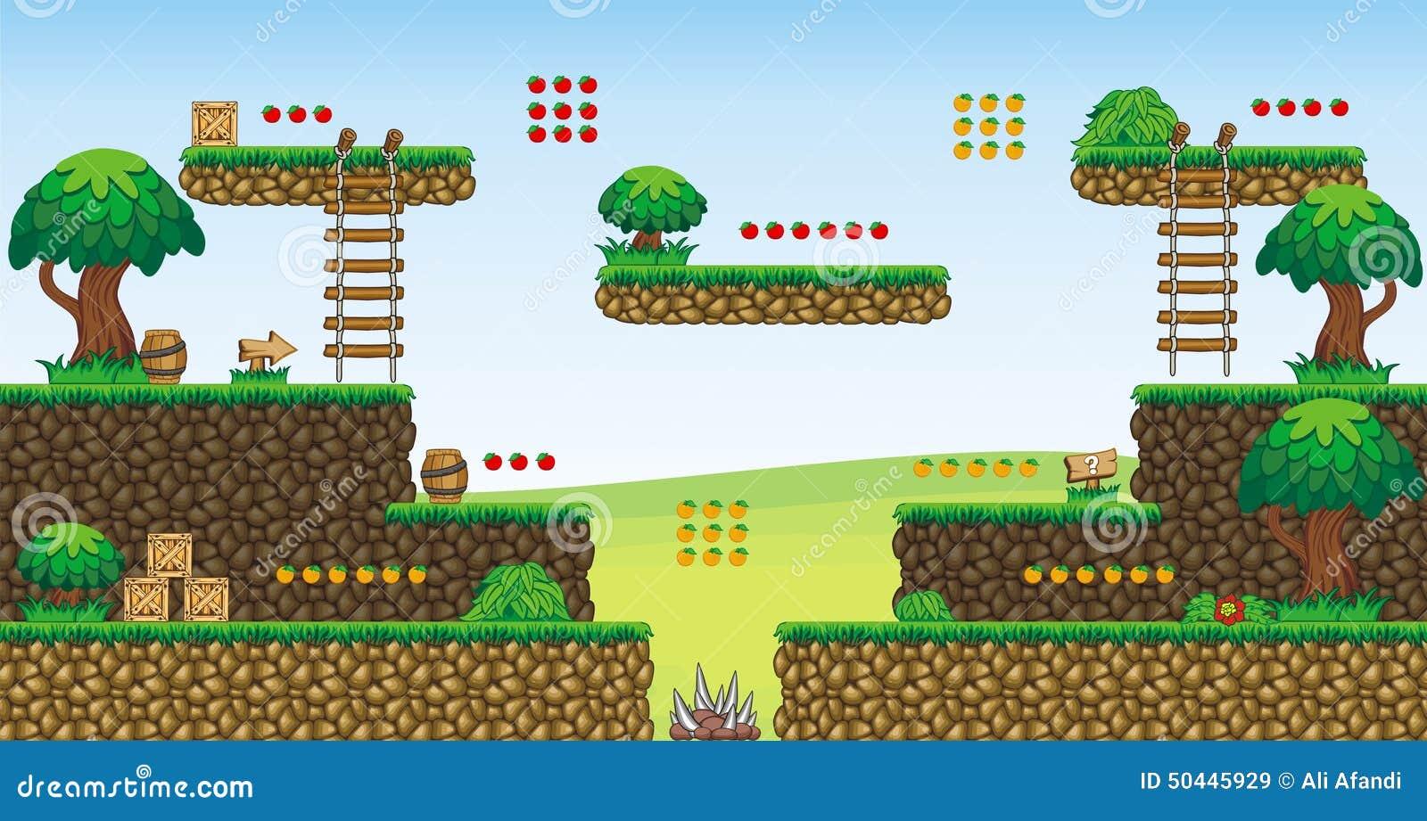 Platformer Game Tile Set 12 2D Game Assets Games Vector