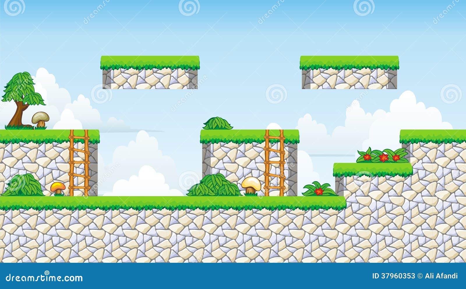 2D Tileset-Platformspel