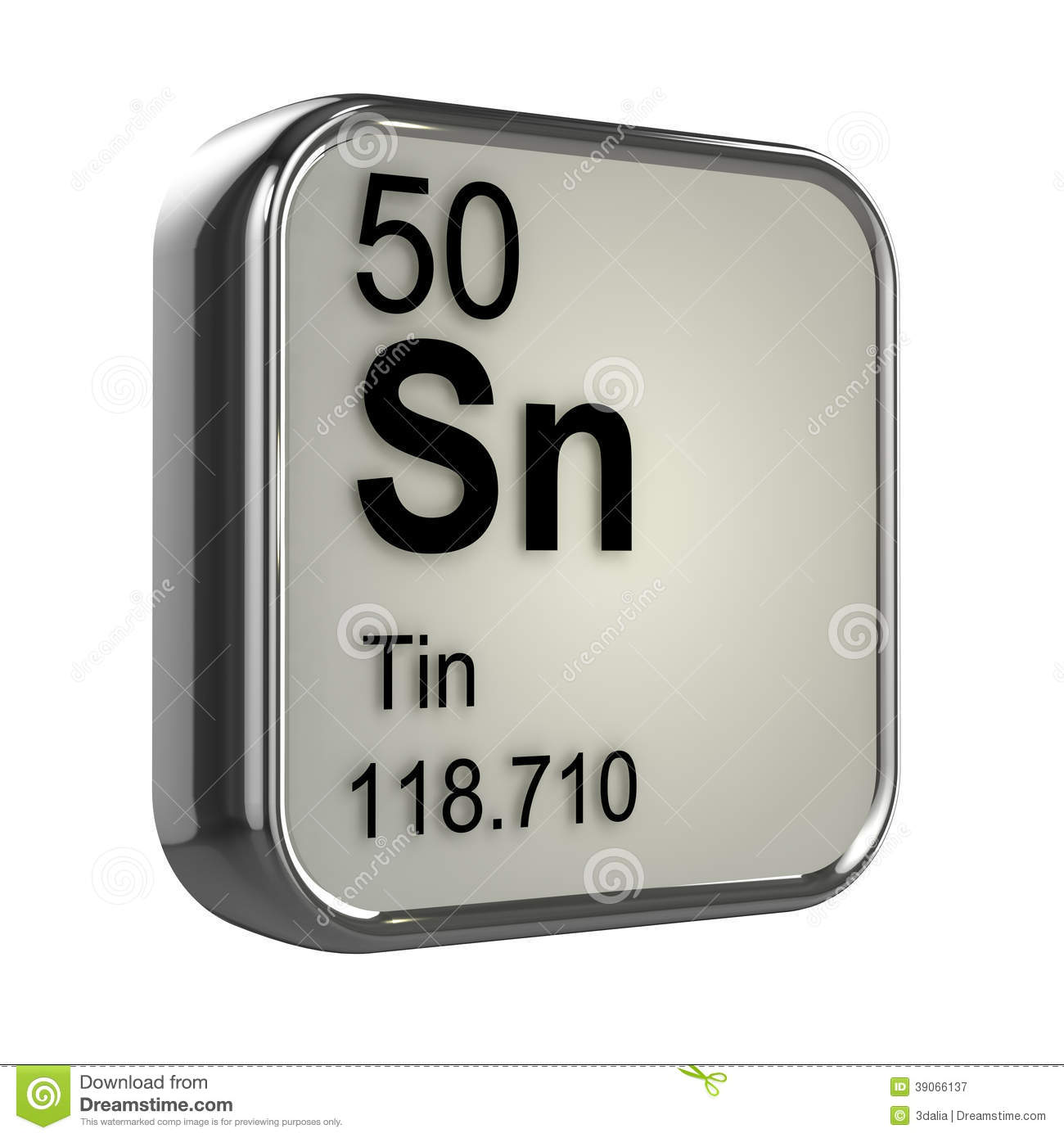 3d Tin Element Stock Illustration - Image: 39066137