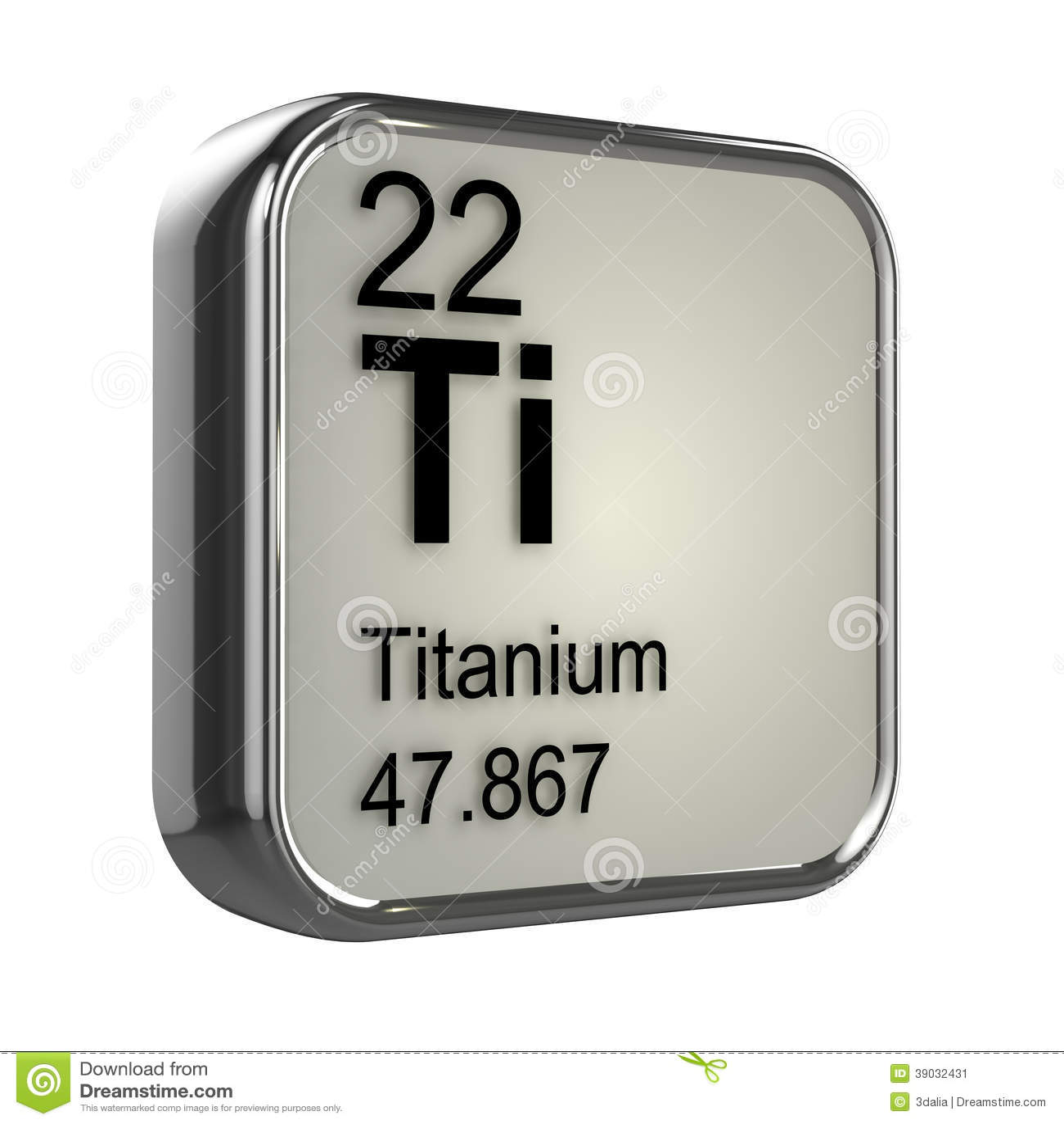 3d Titanium Element Stock Illustration Image Of Protons