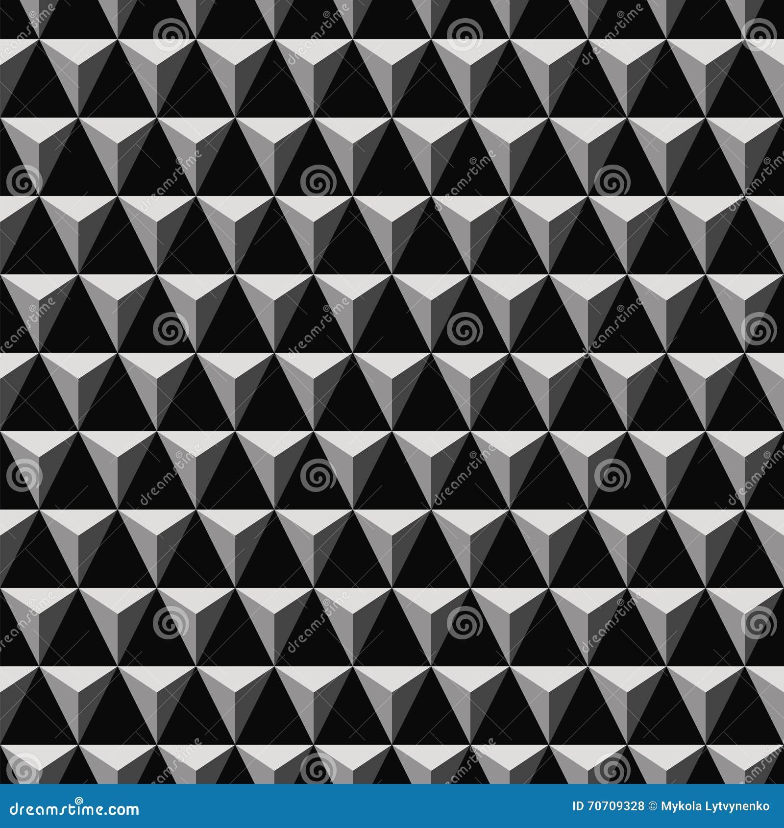 3D Triangular Pyramid Pattern Stock Vector - Illustration of ...