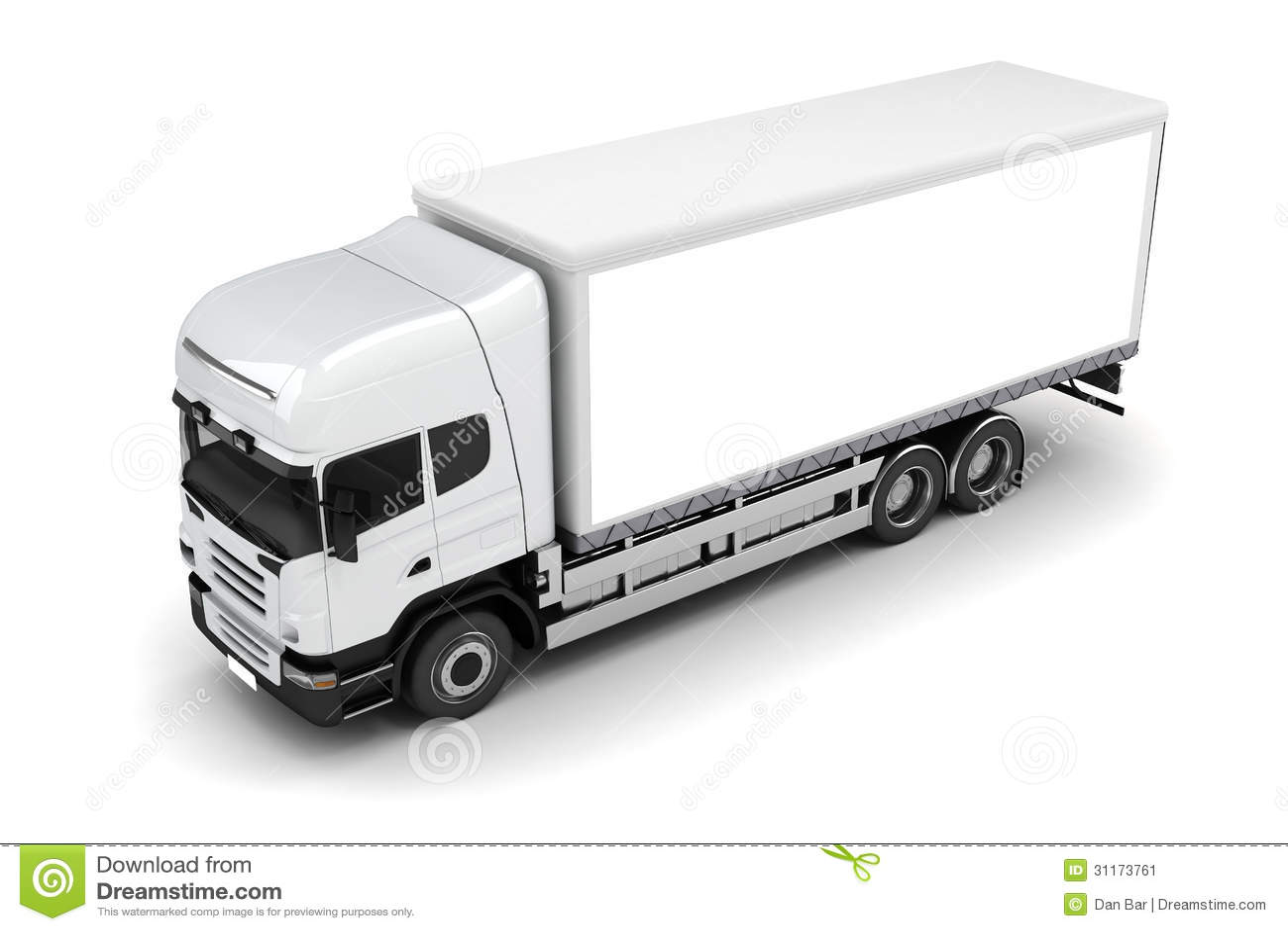3d truck stock illustration illustration of delivery 31173761