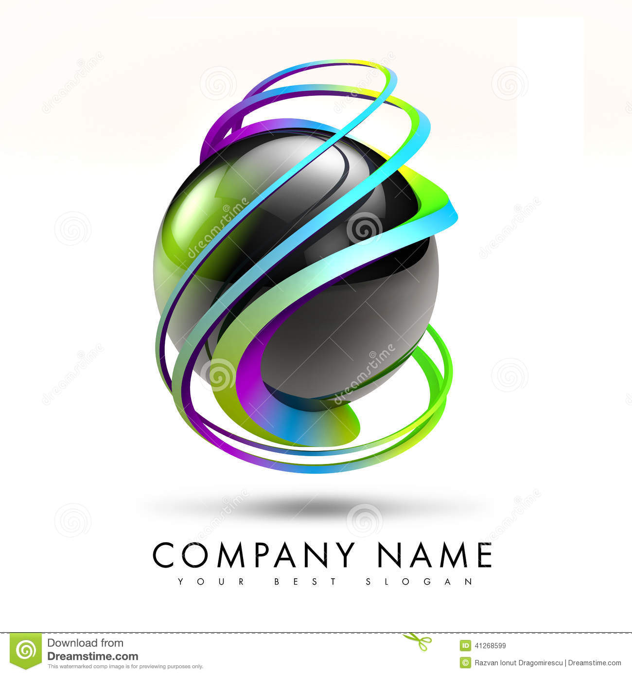 3D Twist Logo Design stock illustration. Image of black ...