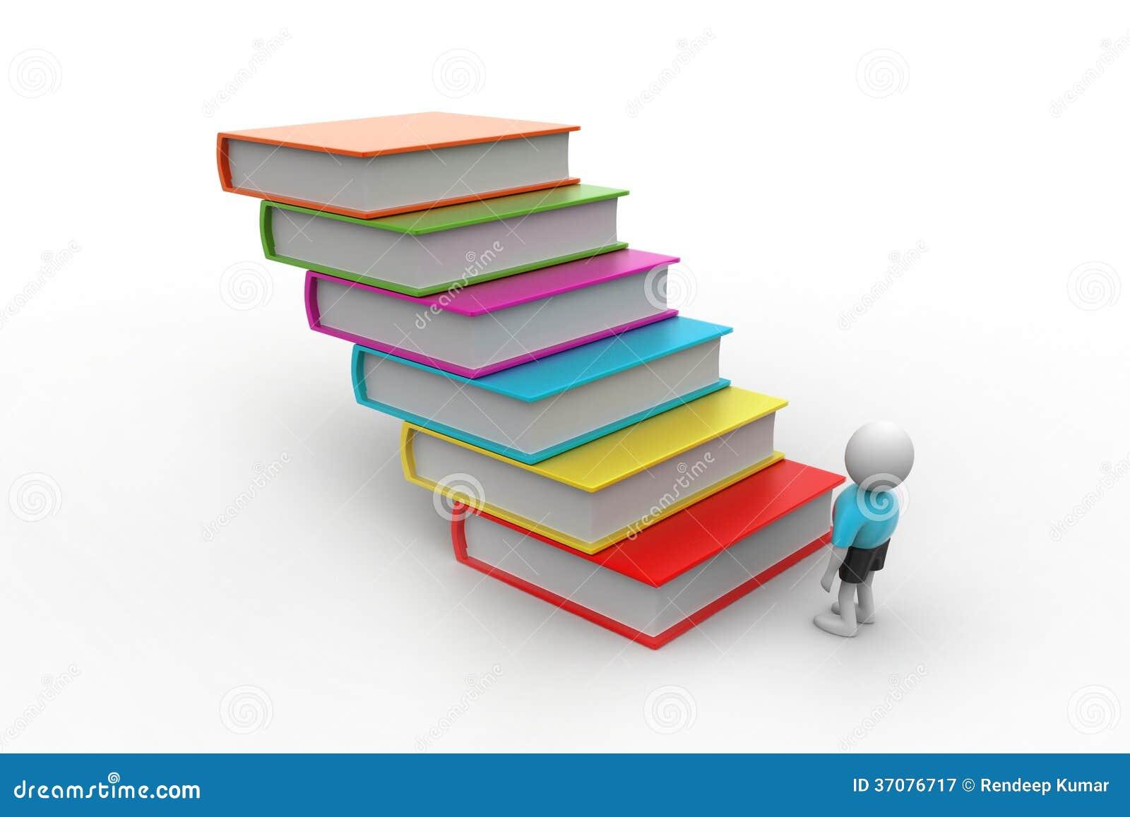 Download 3d Uczeń I Książki, Edukaci Pojęcie Ilustracji - Ilustracja złożonej z charakter, książka: 37076717