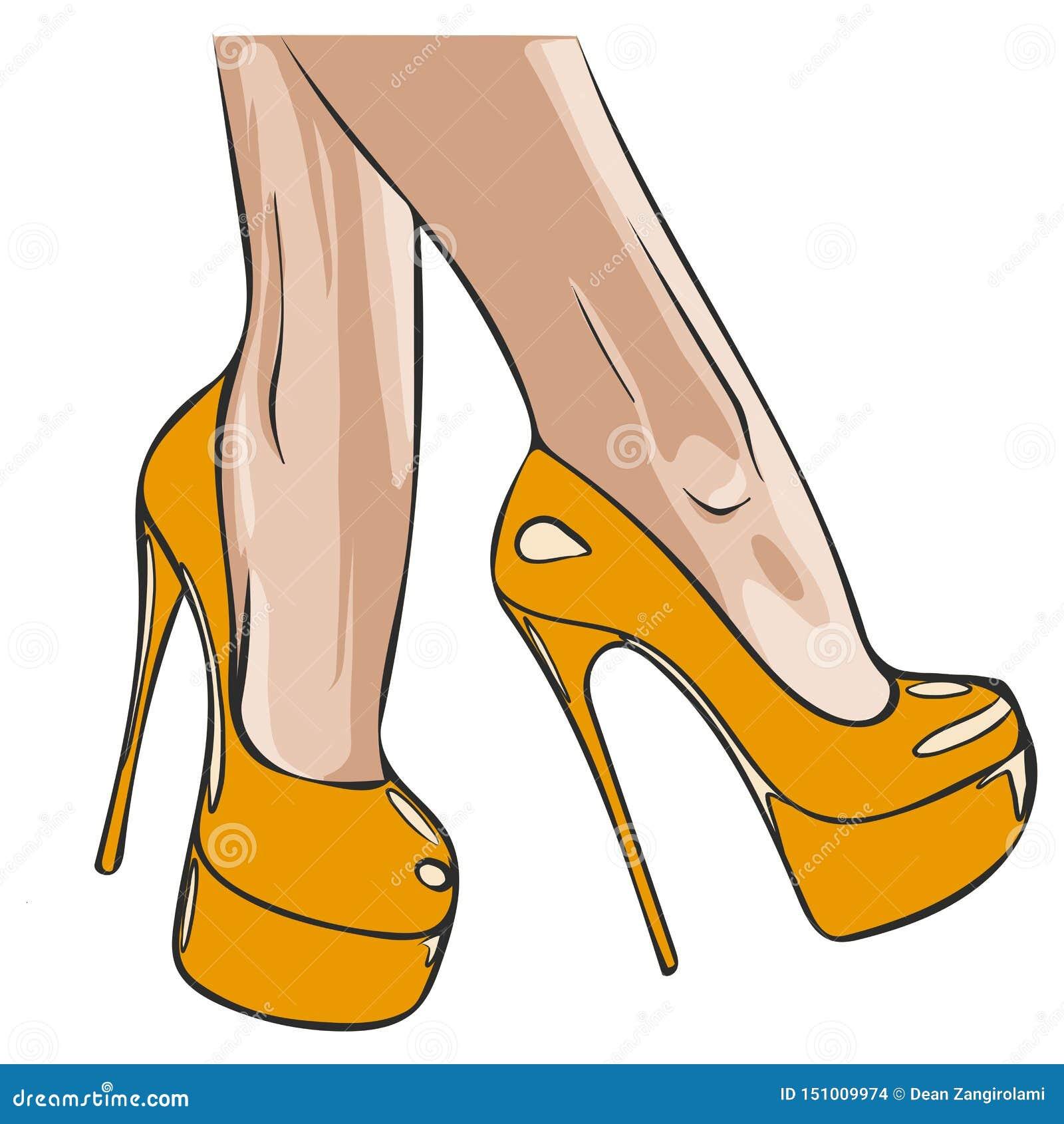 D?ugie nik?e nogi w ciasnych spodniach i heeled butach Moda, styl, odzie? i akcesoria, r?wnie? zwr?ci? corel ilustracji wektora