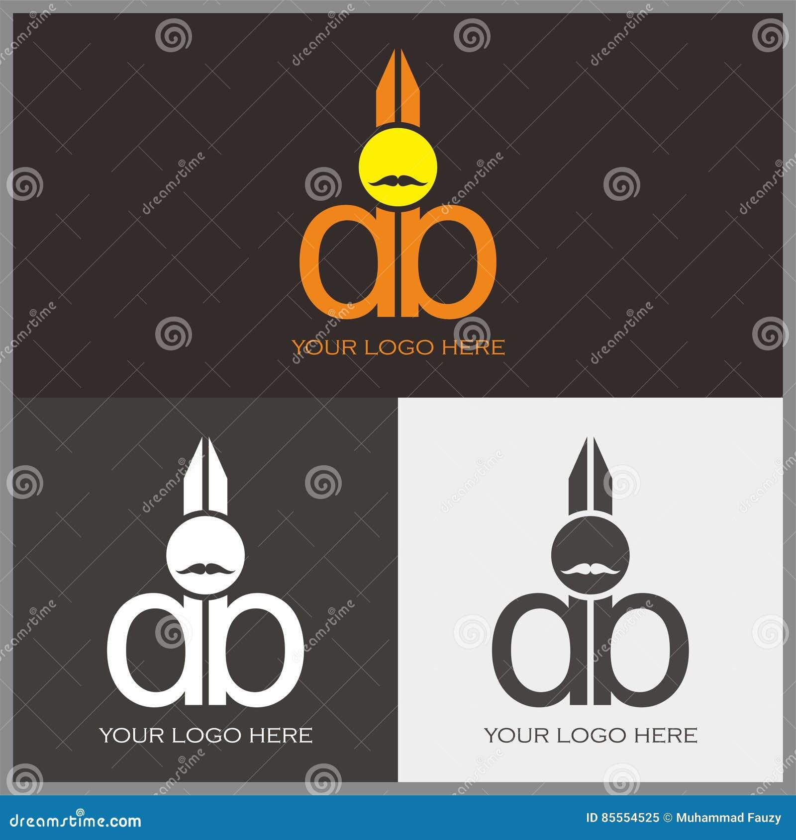 D- und b-Logo mit scissor Form