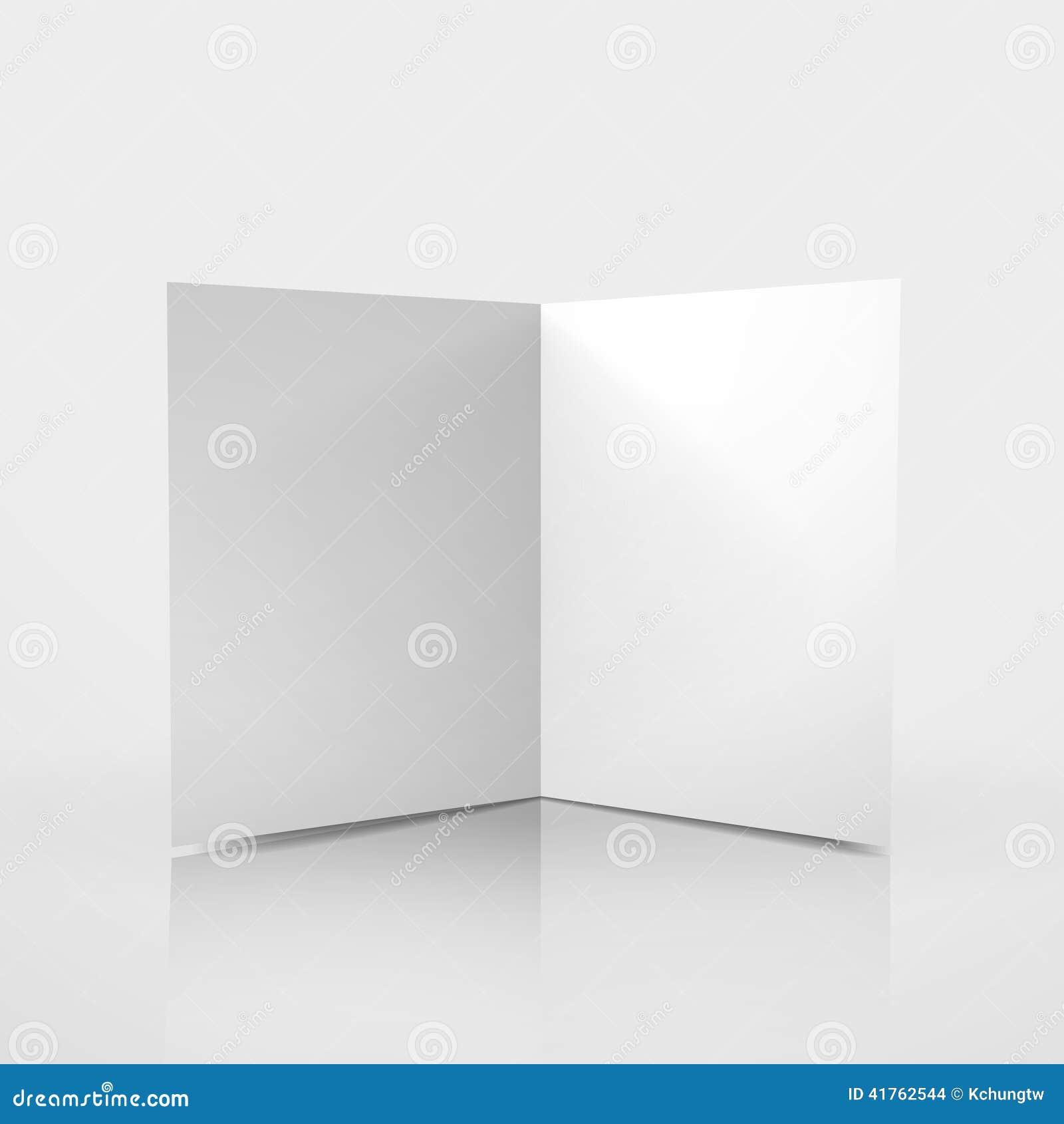 3d Vector Blank Card Template Stock Vector - Image: 41762544