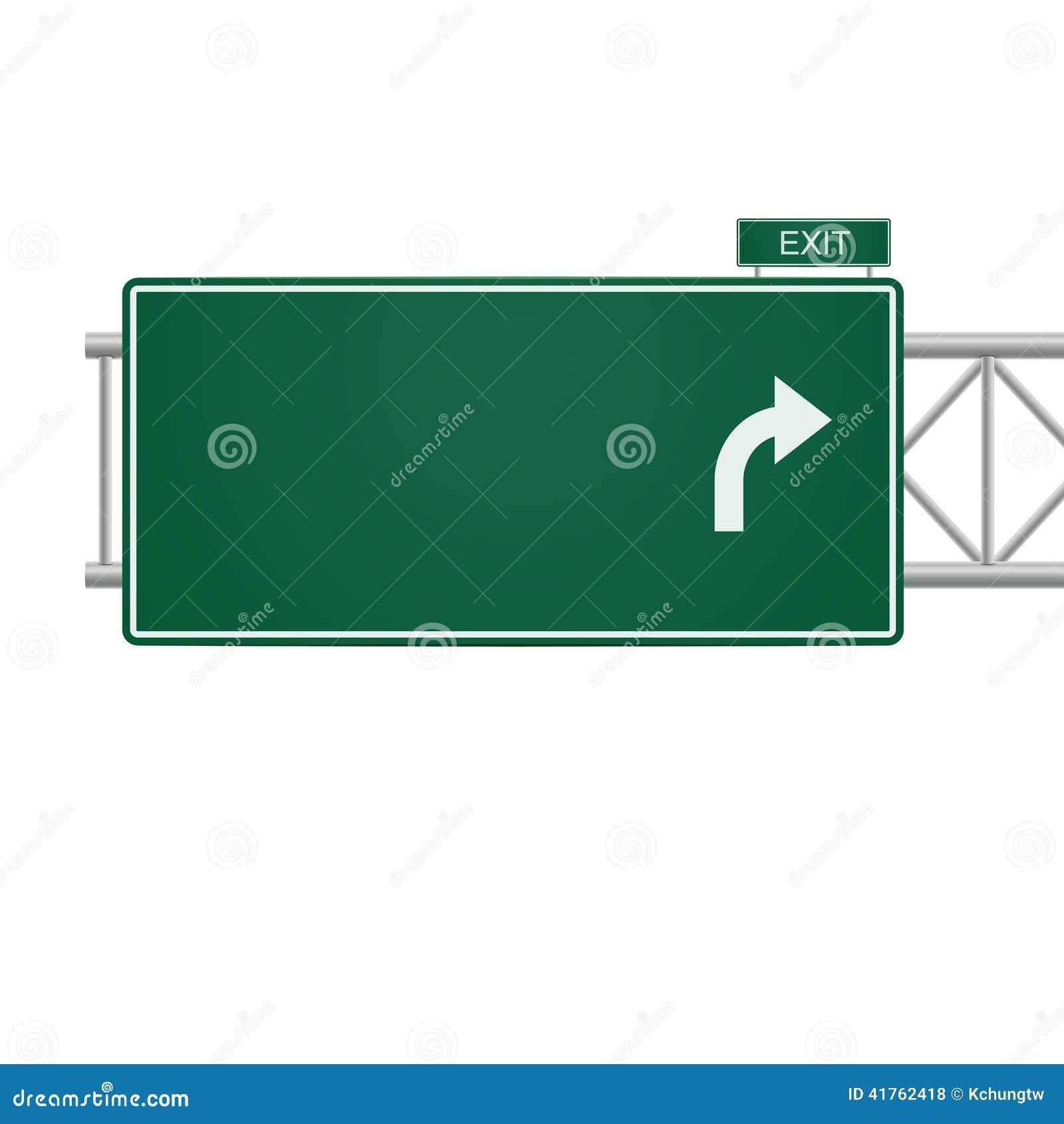 3d Vector Blank Highway Sign Stock Vector Illustration Of Banner