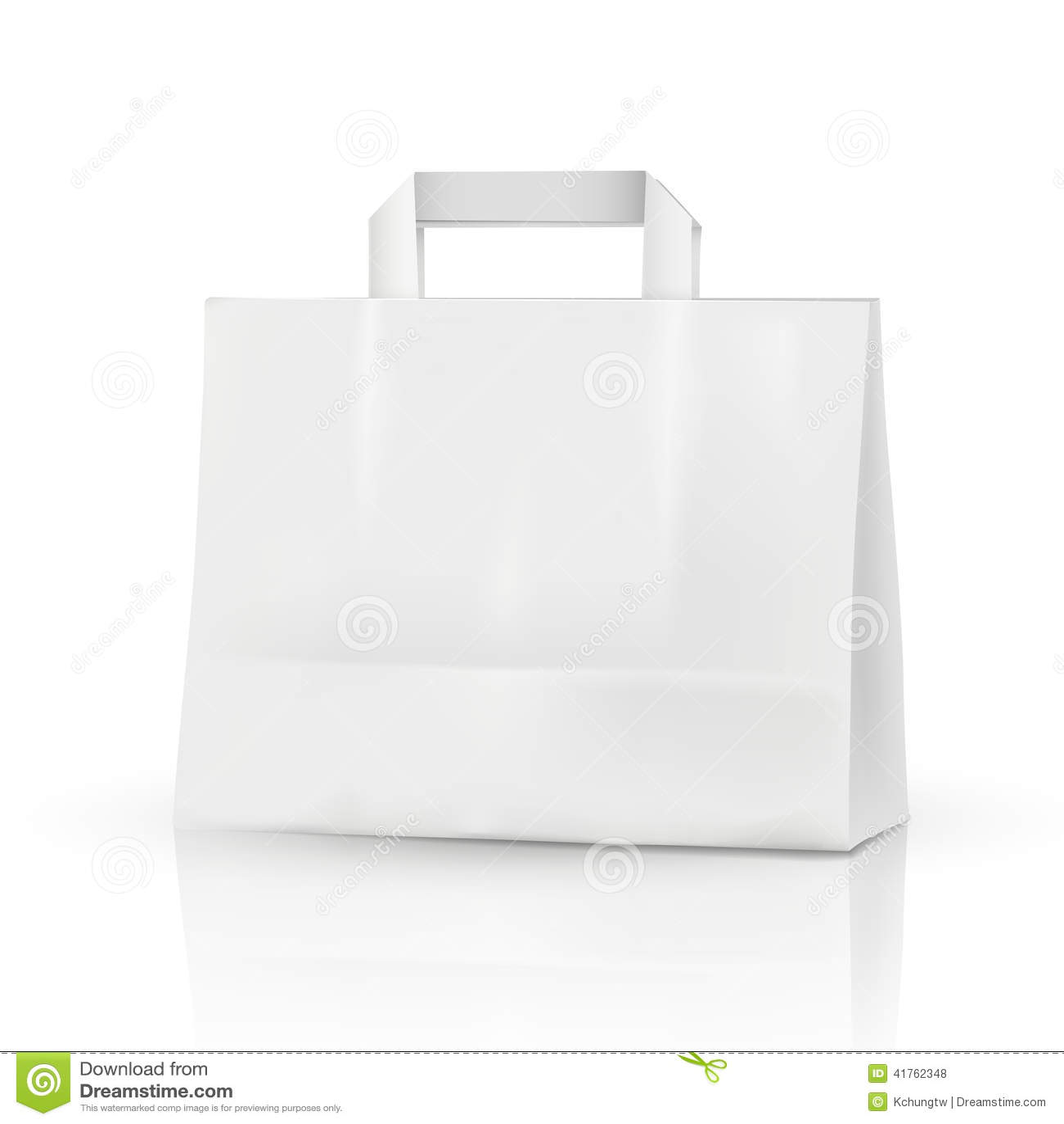 3d Vector Blank Template, 3d Shopping Bag Stock Vector - Image ...