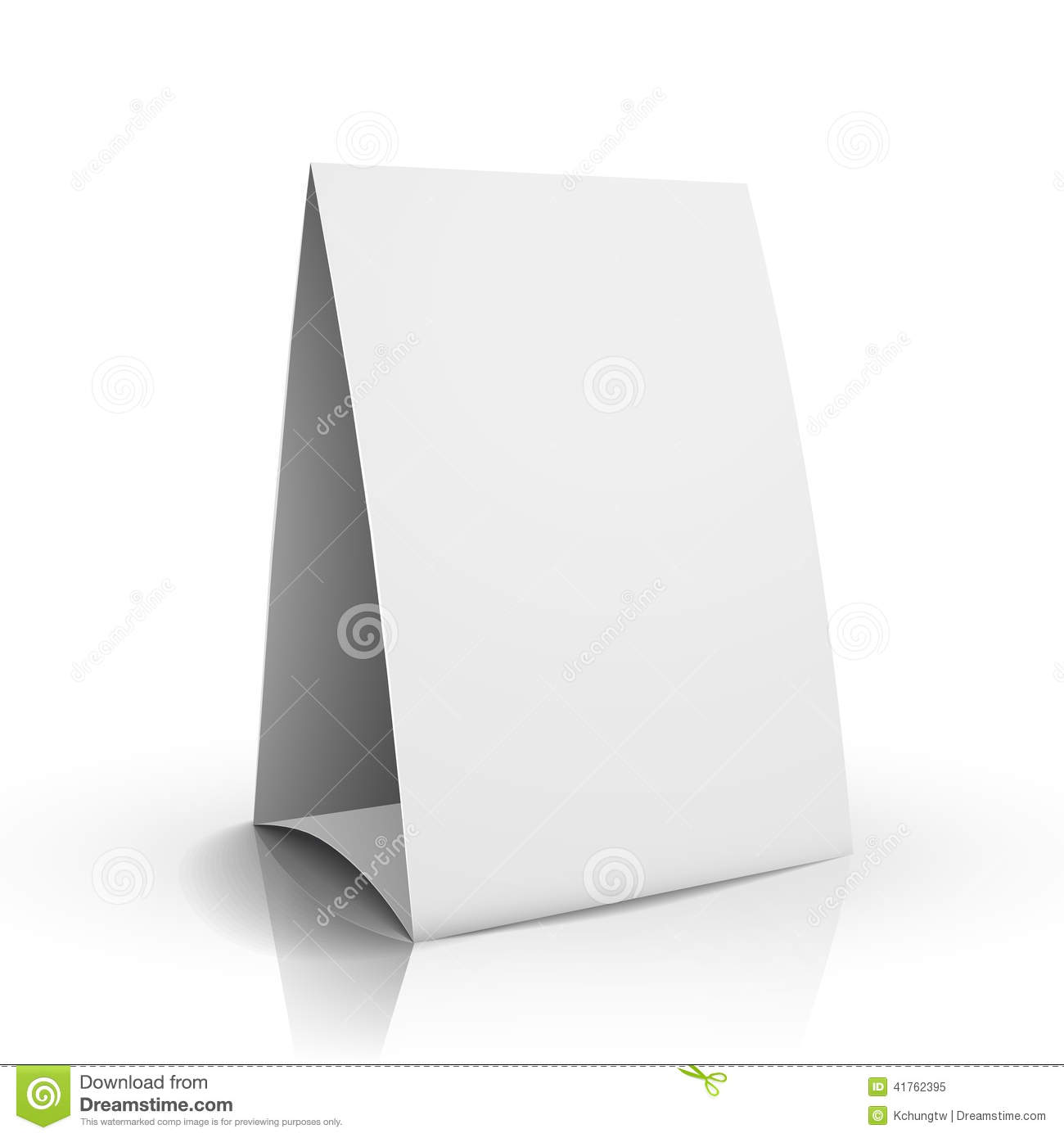3d Vector Blank White Paper Table Card Stock Vector - Image: 41762395