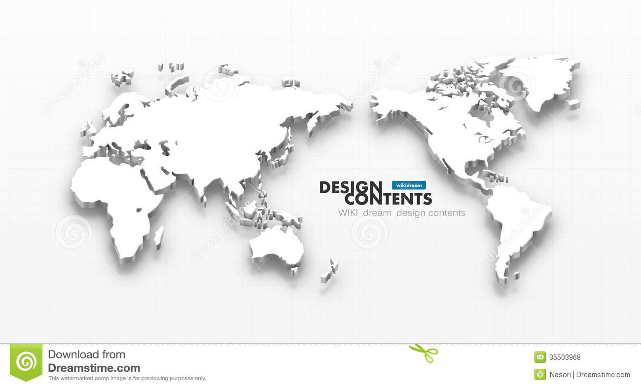 3d vector world map stock illustration illustration of shadow 3d vector world map gumiabroncs Image collections