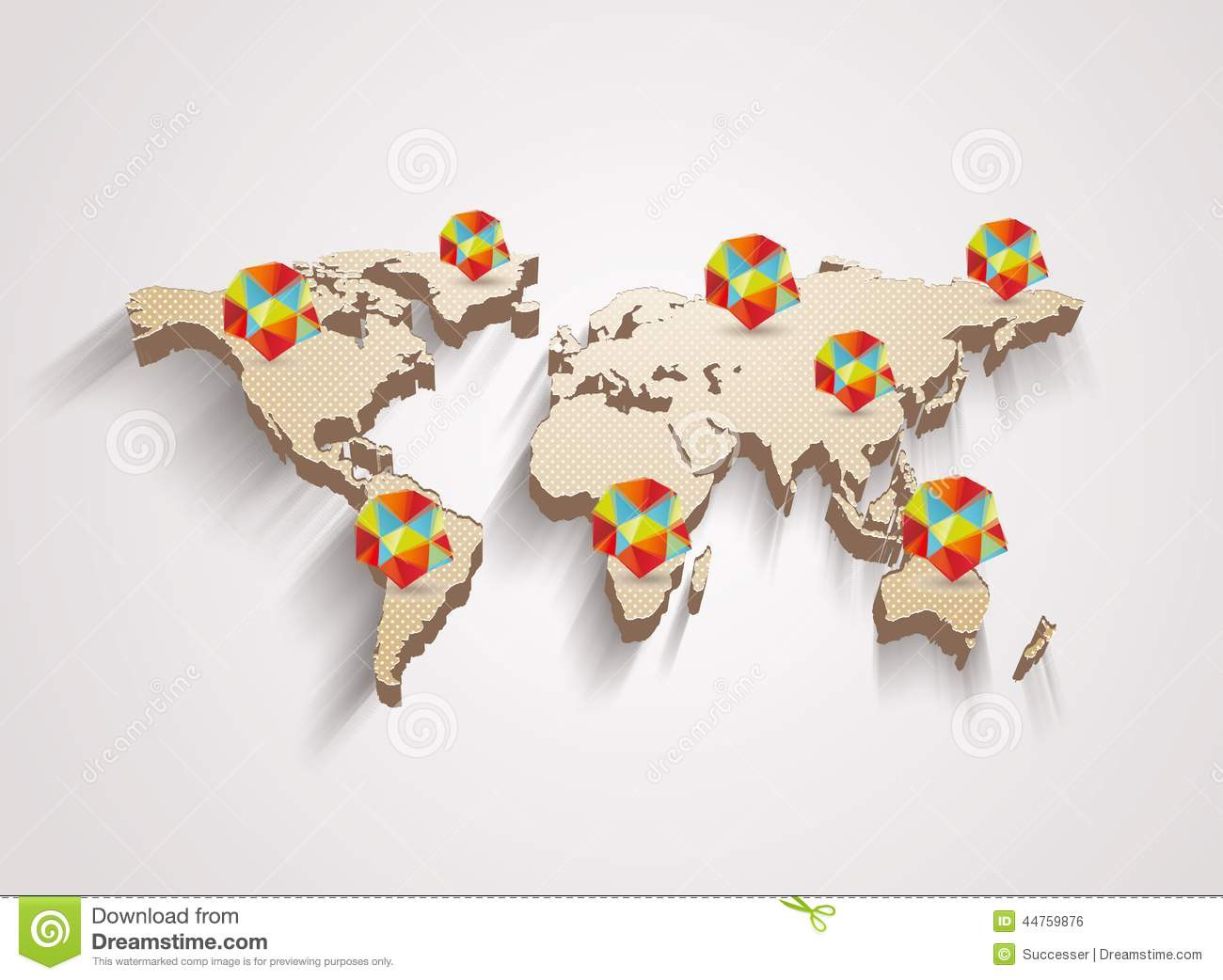 3d vector world map with info graphics stock vector illustration 3d vector world map with info graphics royalty free vector download gumiabroncs Image collections