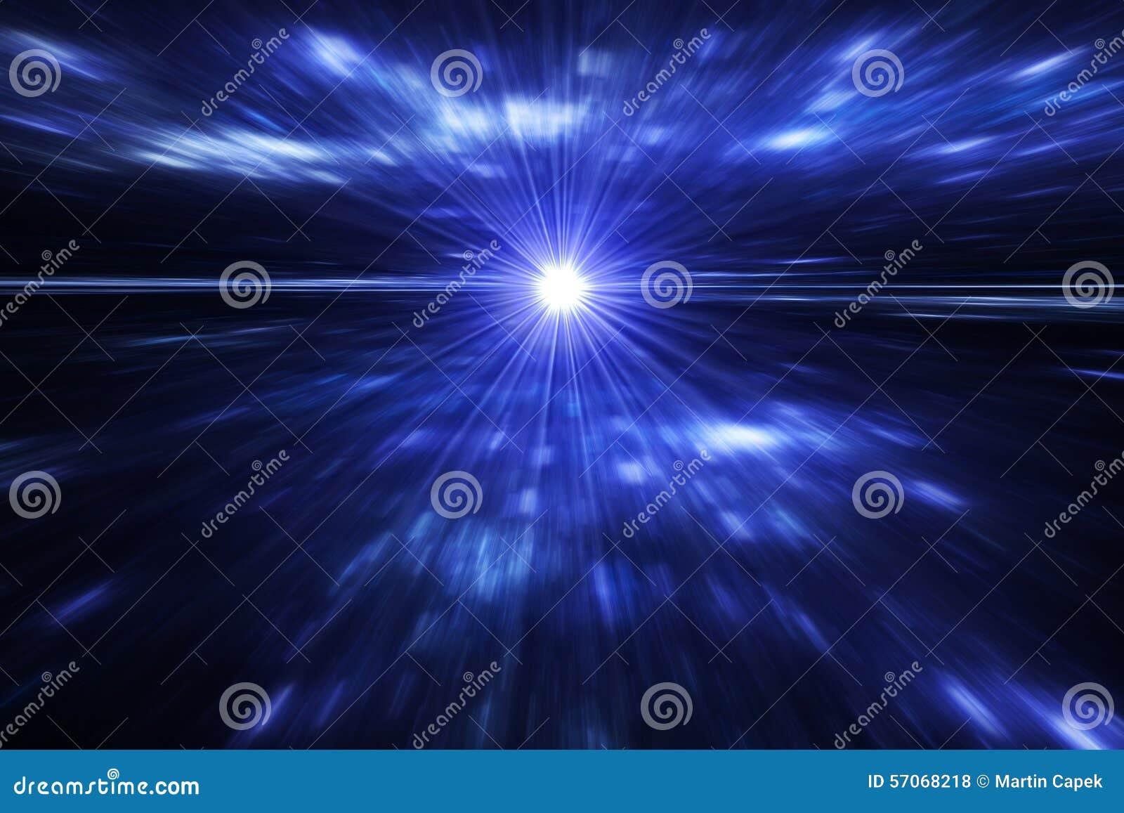 3d vertegenwoordiging van ruimte geïsoleerdp wormgat