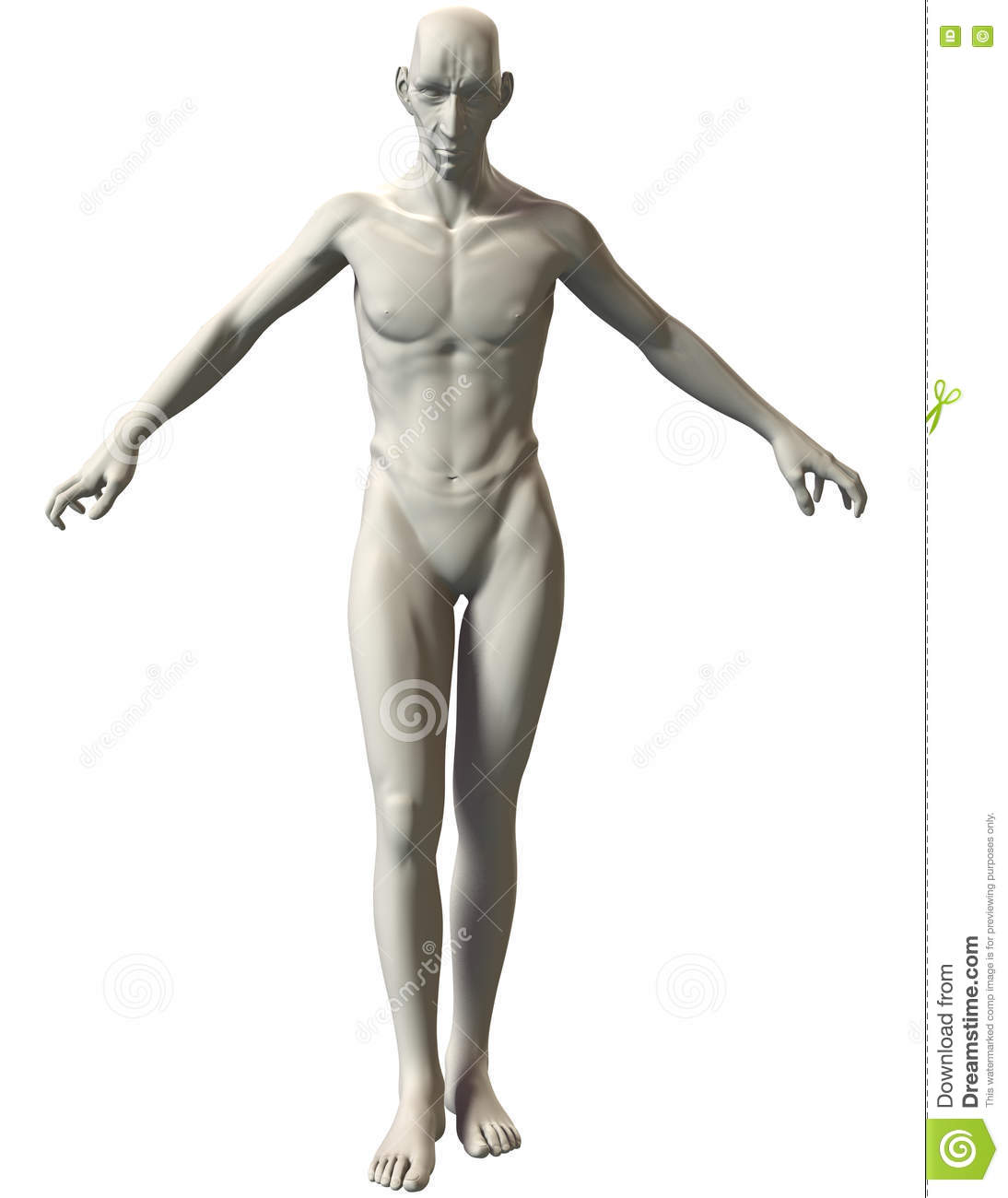 3D Villain Pose Reference Unlimited Power Stock Image