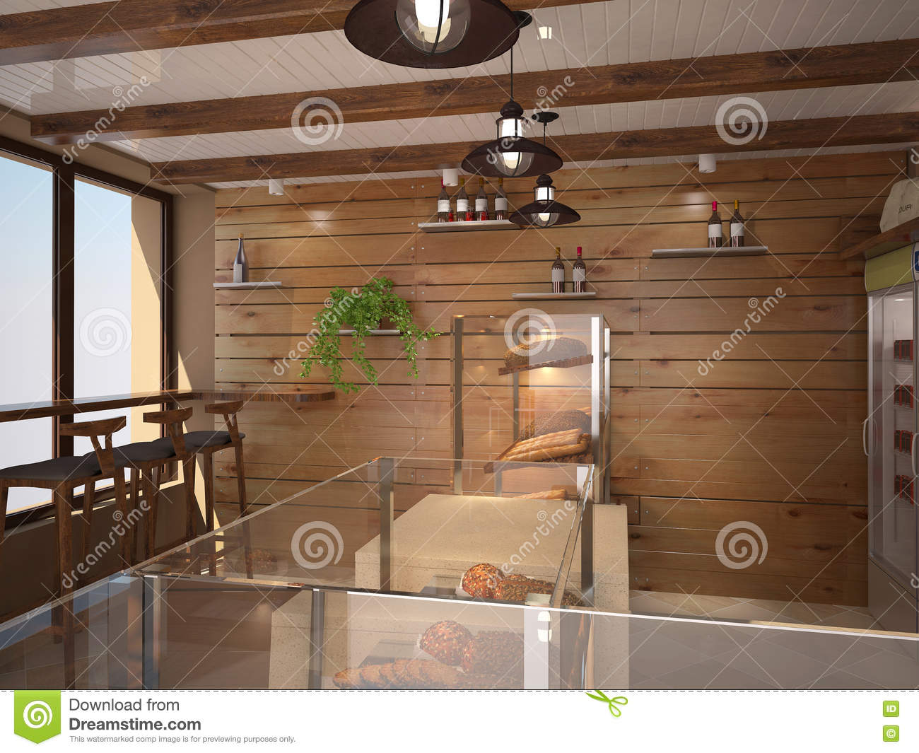 Visualization of the interior 3d rendering royalty free for Interior decorating visualizer