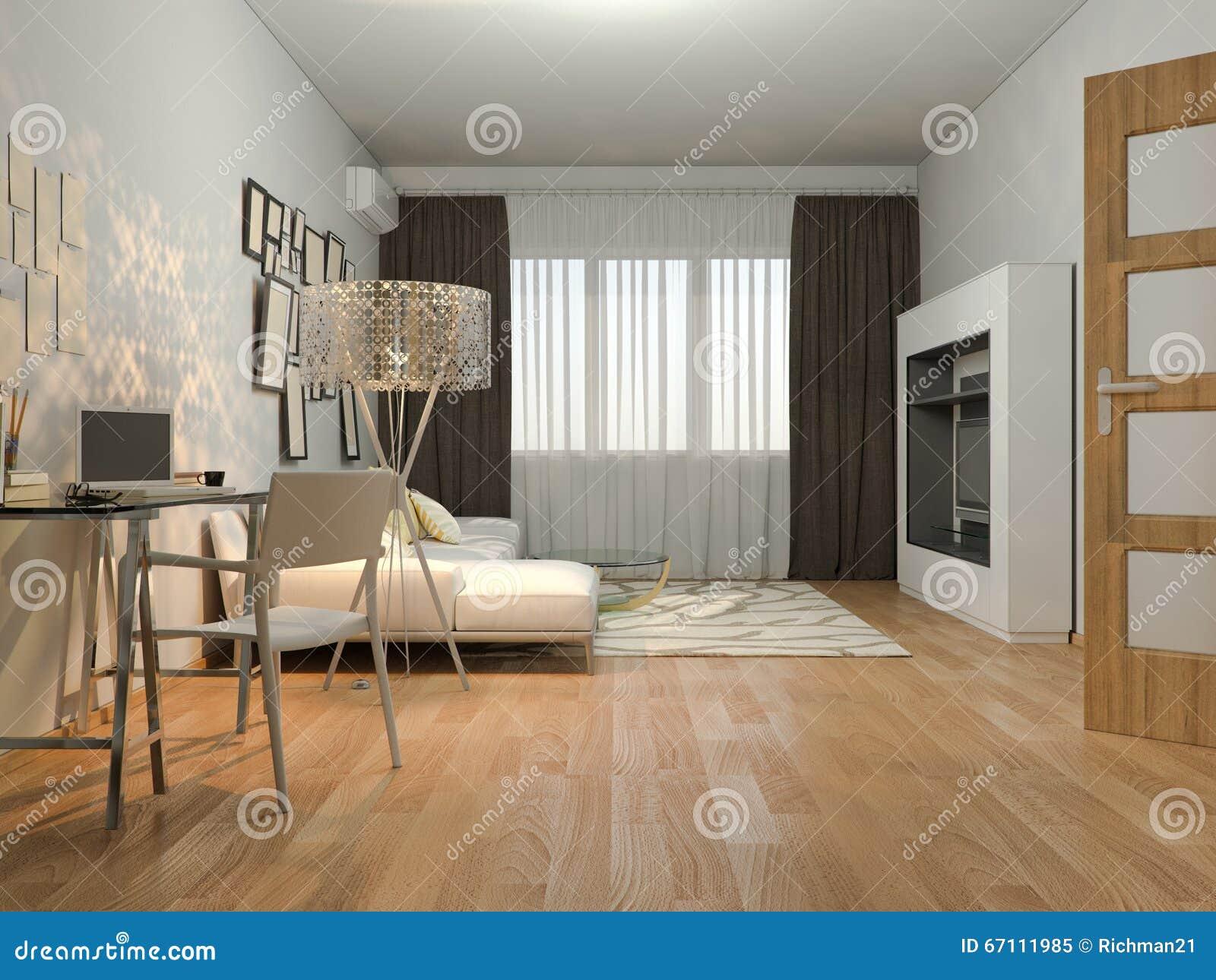 Living In A Studio Apartment 3d visualization of interior design living in a studio apartment