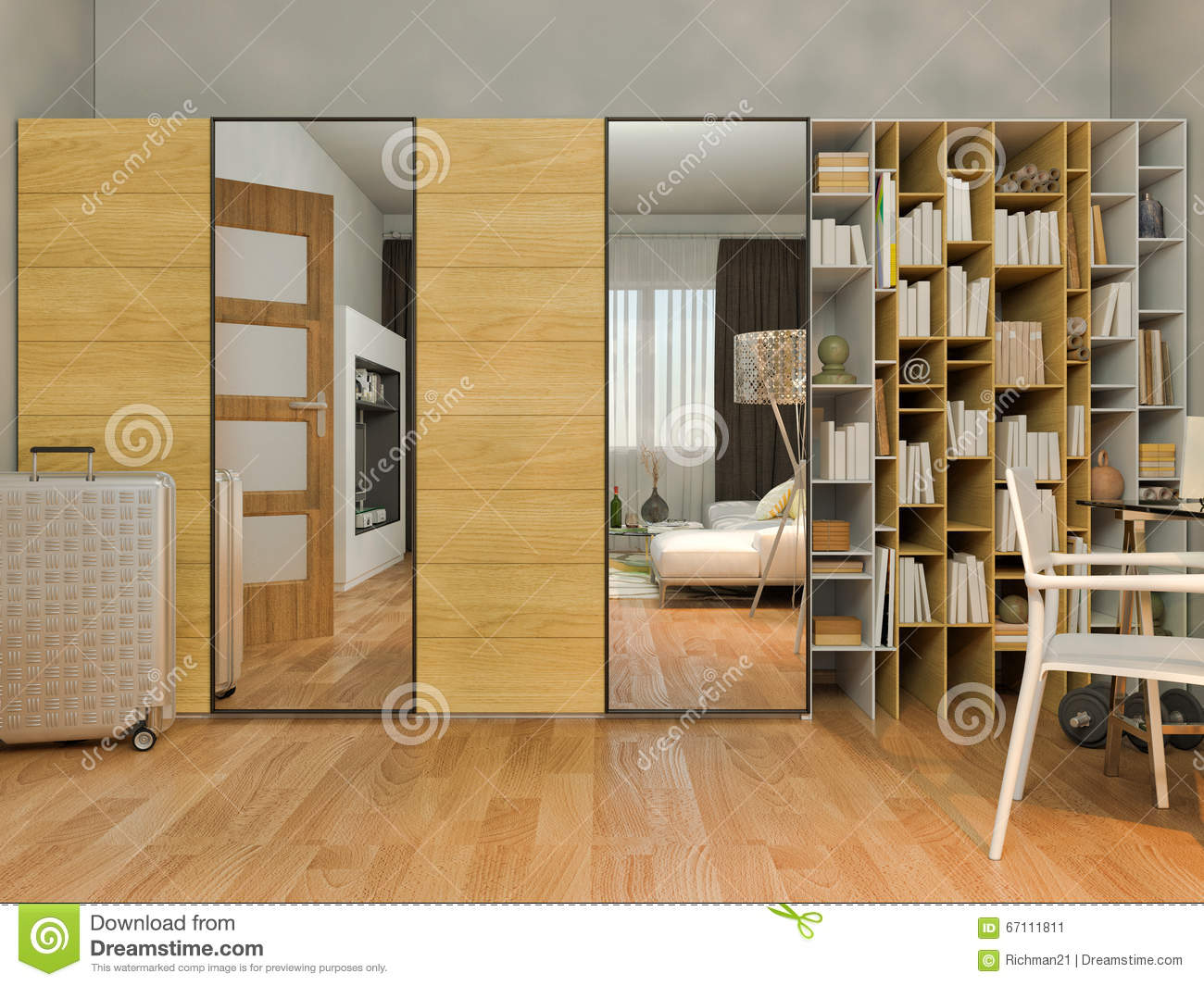 Living In A Studio Apartment 3d visualization of interior design living in a studio apartment