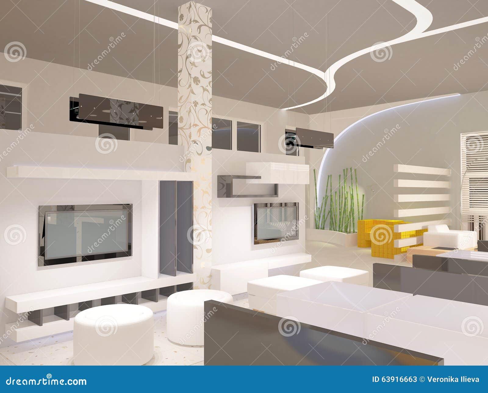 Royalty Free Illustration Download 3D Visualization Of A Showroom Interior Design